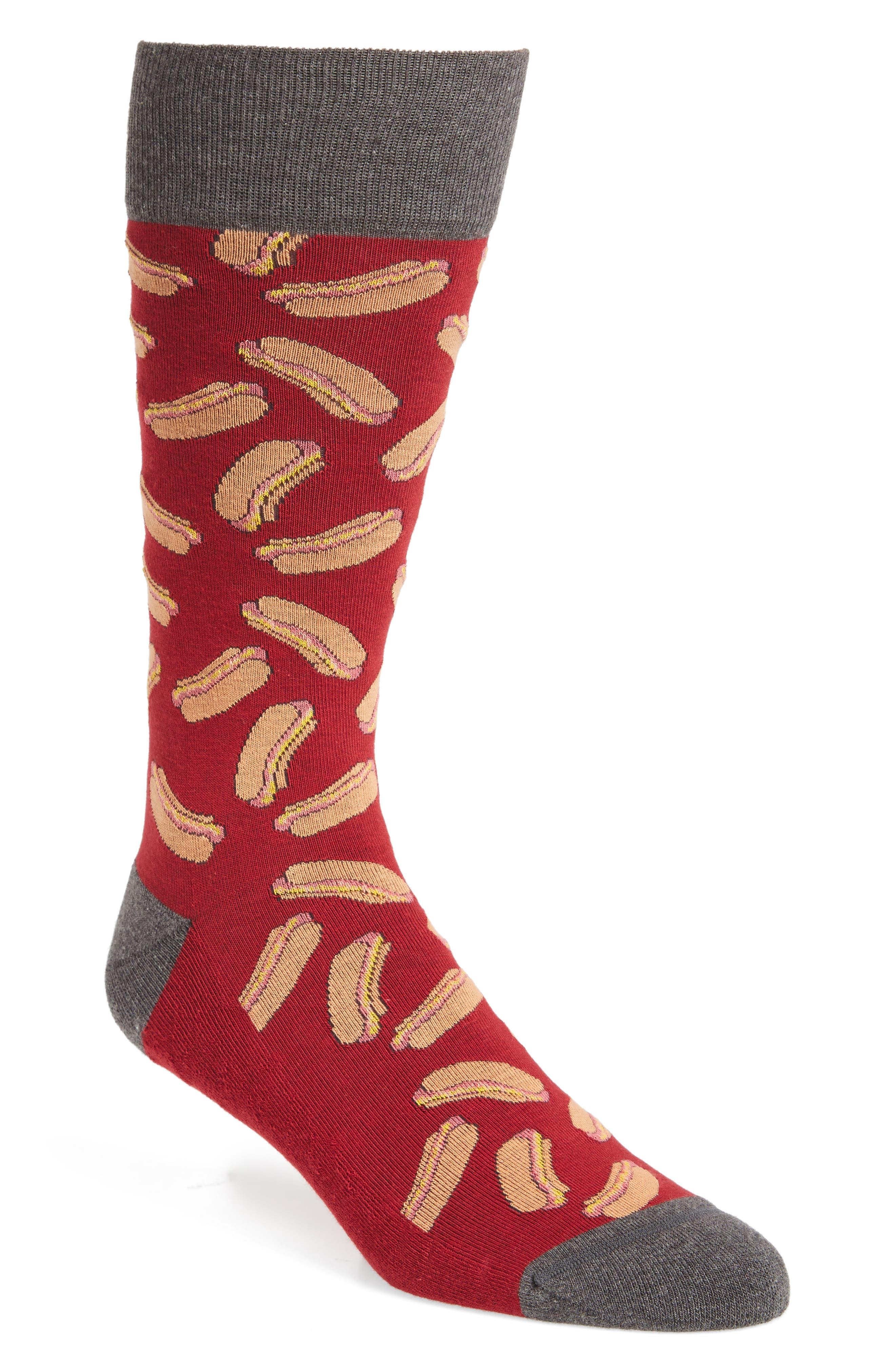 Alternate Image 1 Selected - Nordstrom Men's Shop Hot Dog Socks
