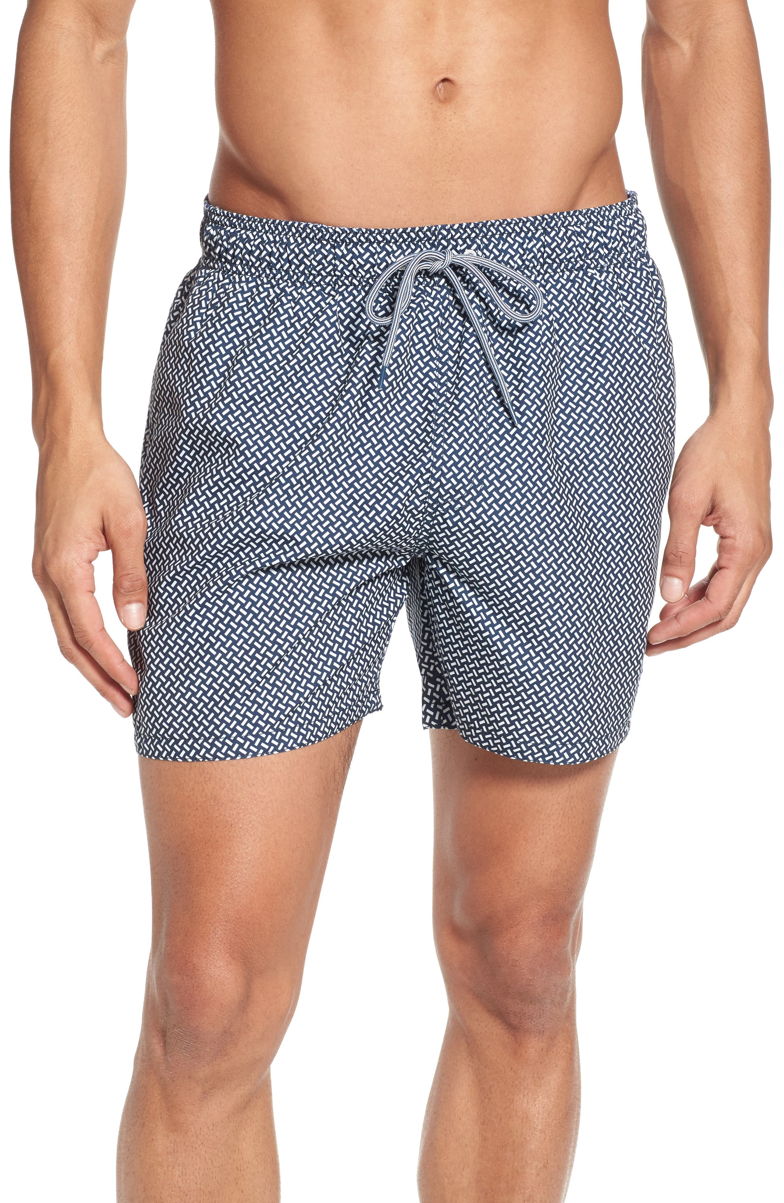 Preston Swim Shorts,                         Main,                         color, Navy