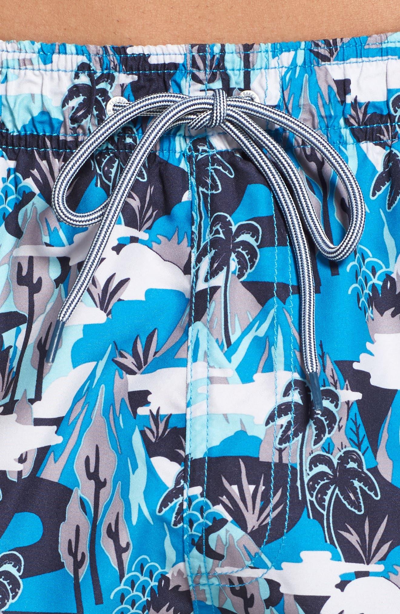 Alternate Image 4  - Ted Baker London Karner Print Swim Trunks