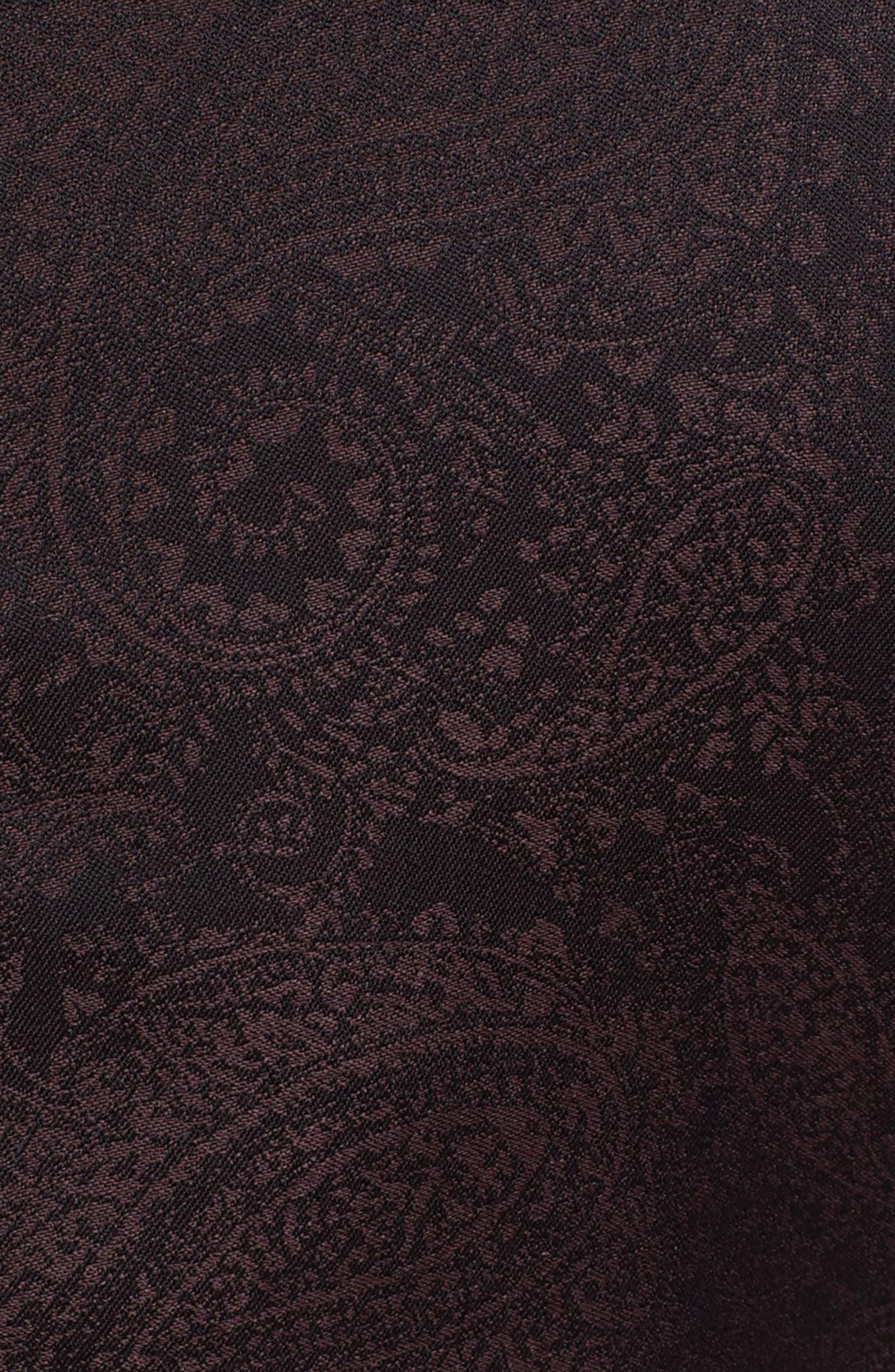 Classic Fit Paisley Wool Dinner Jacket,                             Alternate thumbnail 5, color,                             Dark Purple
