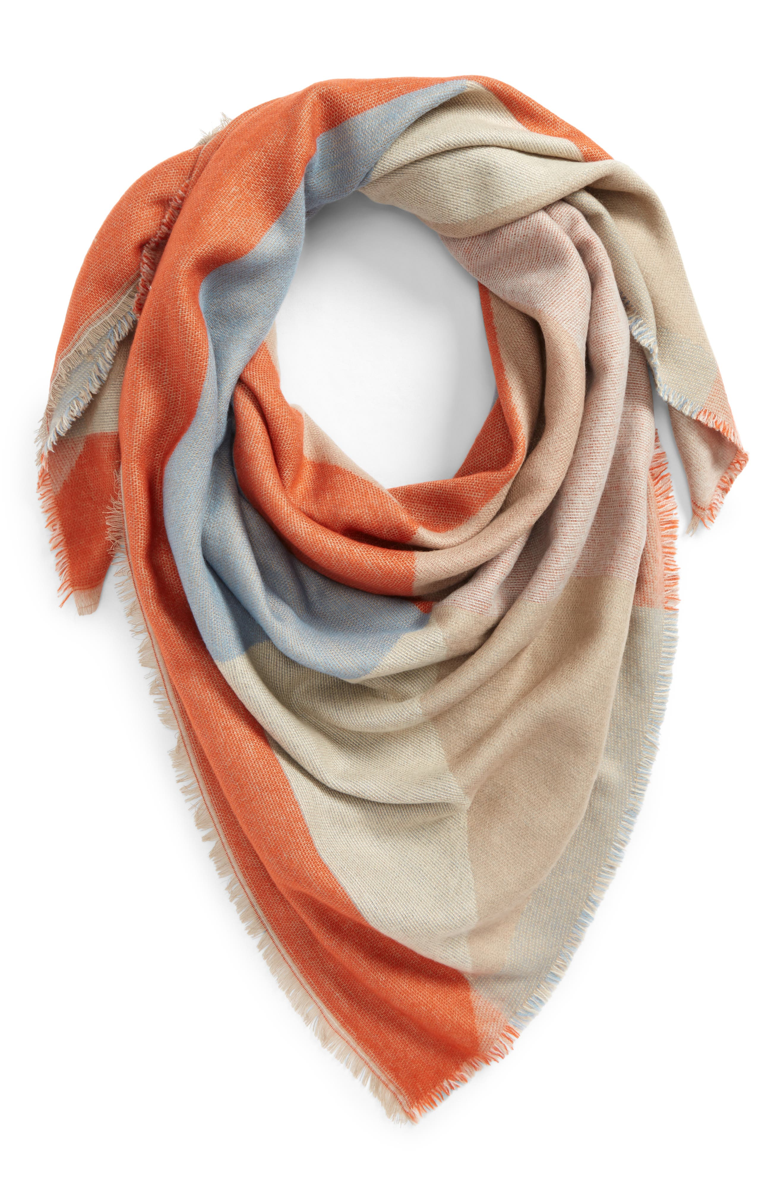 Geo Pattern Square Scarf,                         Main,                         color, Taupe Multi