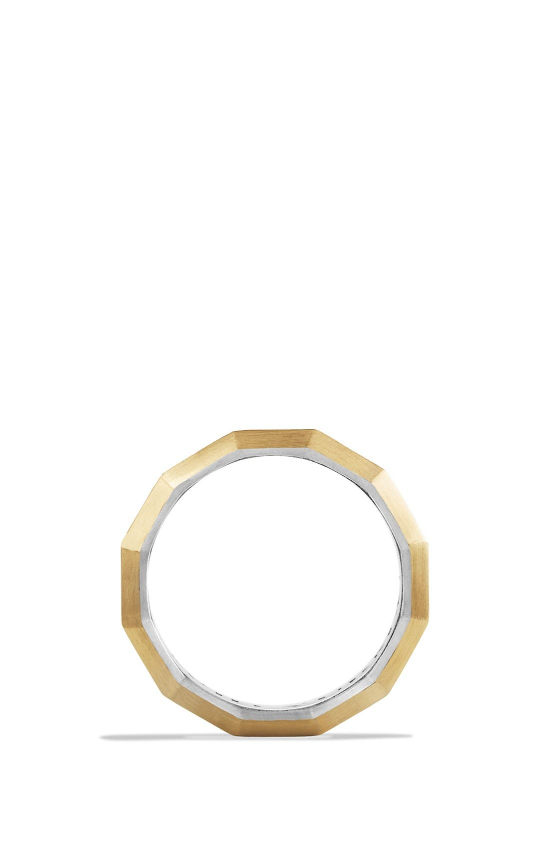 Alternate Image 2  - David Yurman 'Faceted' Metal Ring with 18k Gold
