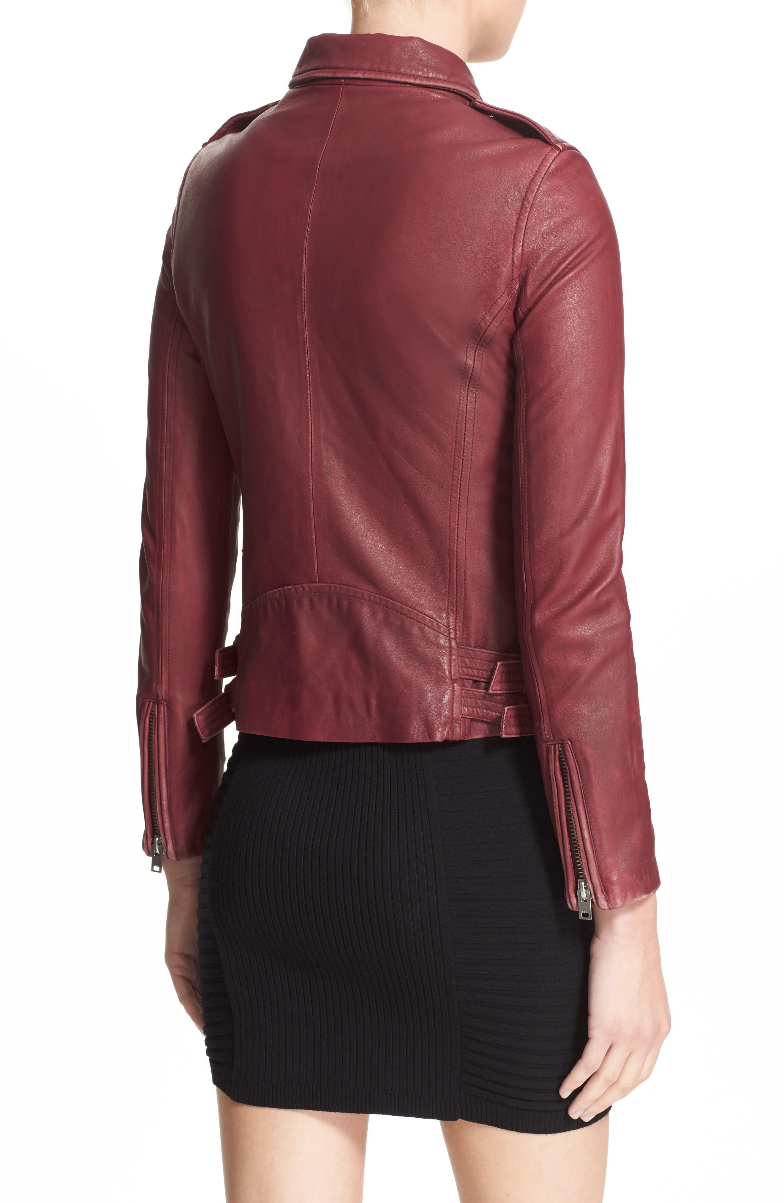 Alternate Image 2  - IRO Leather Moto Jacket