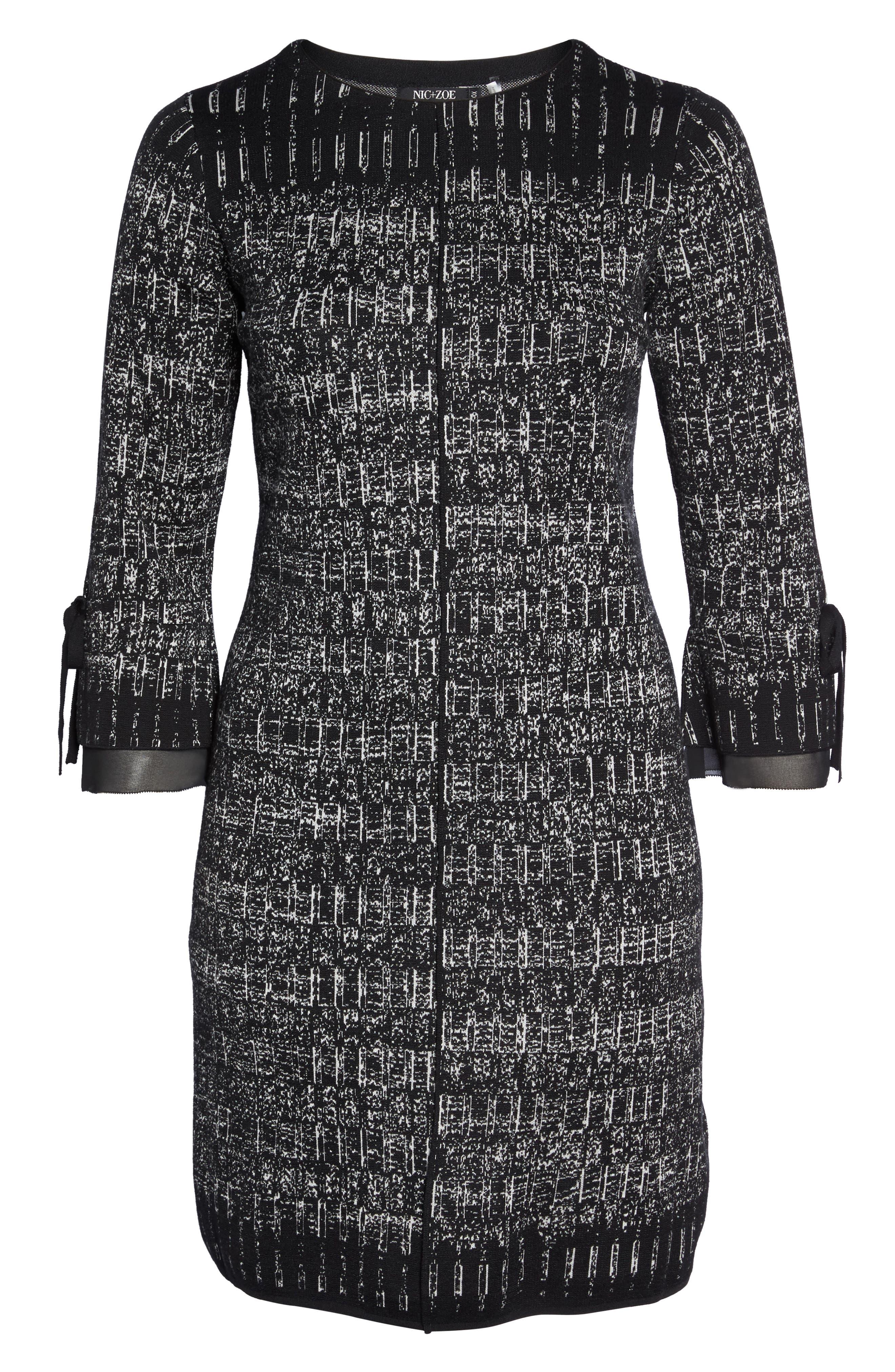Alternate Image 6  - NIC+ZOE Ruffle Cuff Sweater Dress (Plus Size)