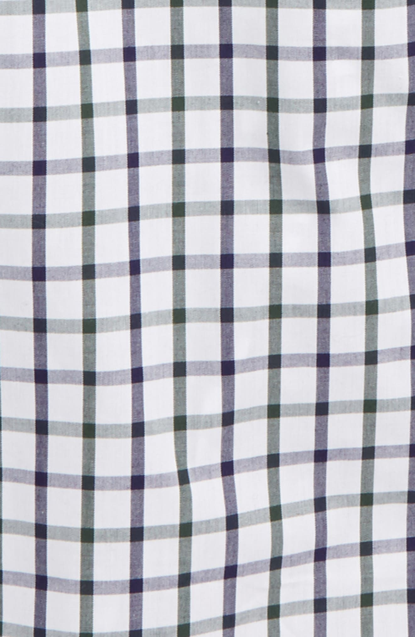 Windowpane Plaid Dress Shirt,                             Alternate thumbnail 2, color,                             White-Navy Plaid