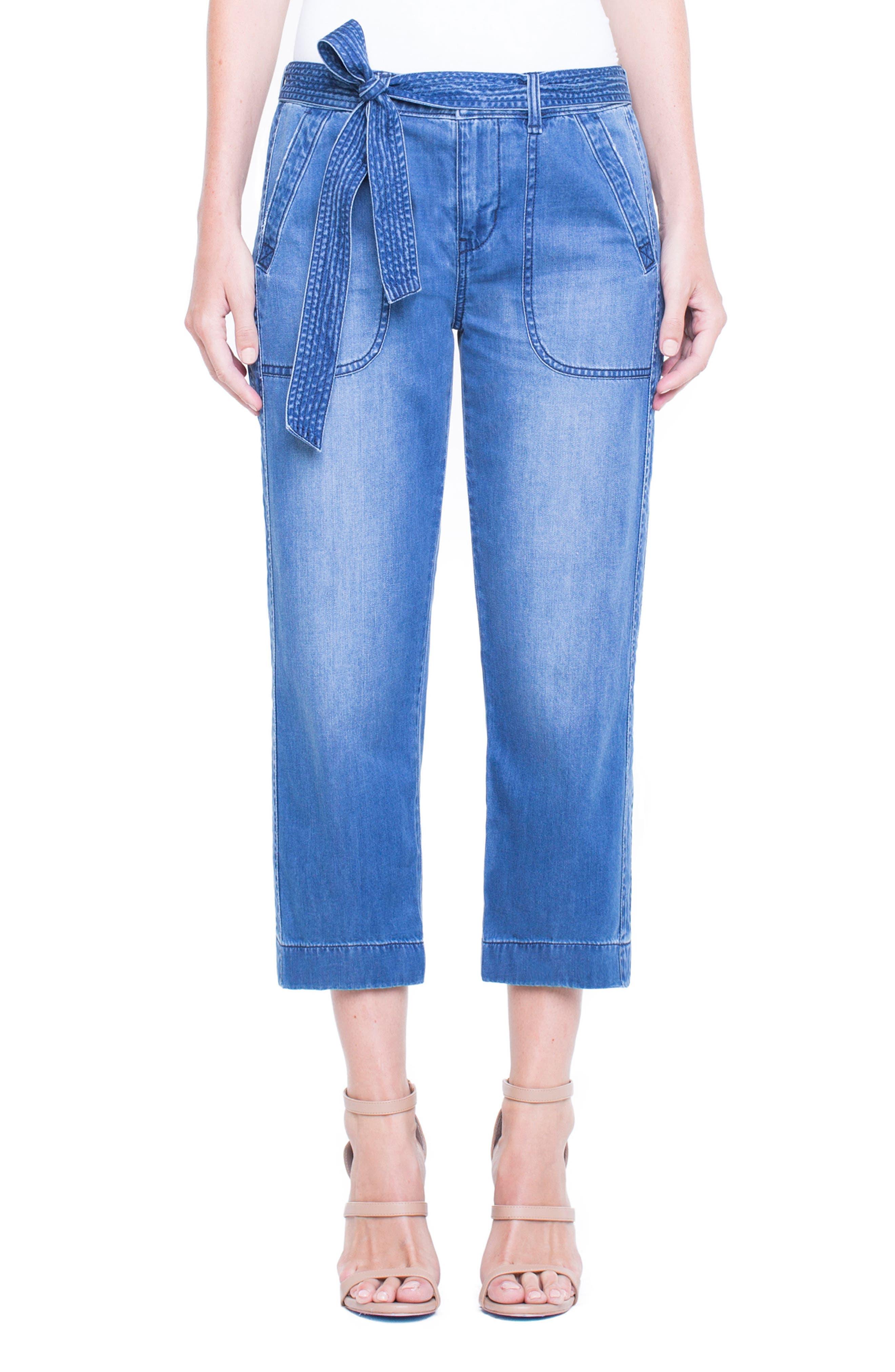 Main Image - Liverpool Jeans Company Norah Capri Jeans (Belfast Hand Sand)