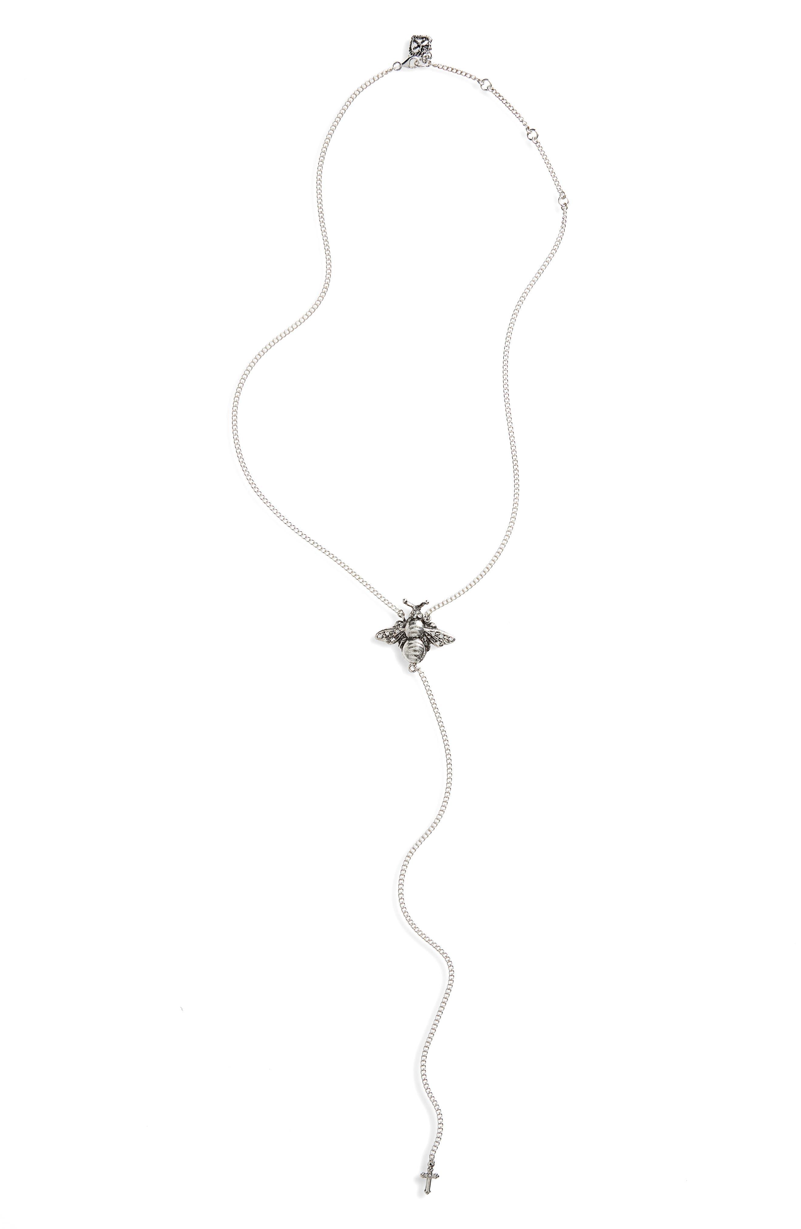 Main Image - Virgins Saints & Angels Bee Mine Y-Necklace