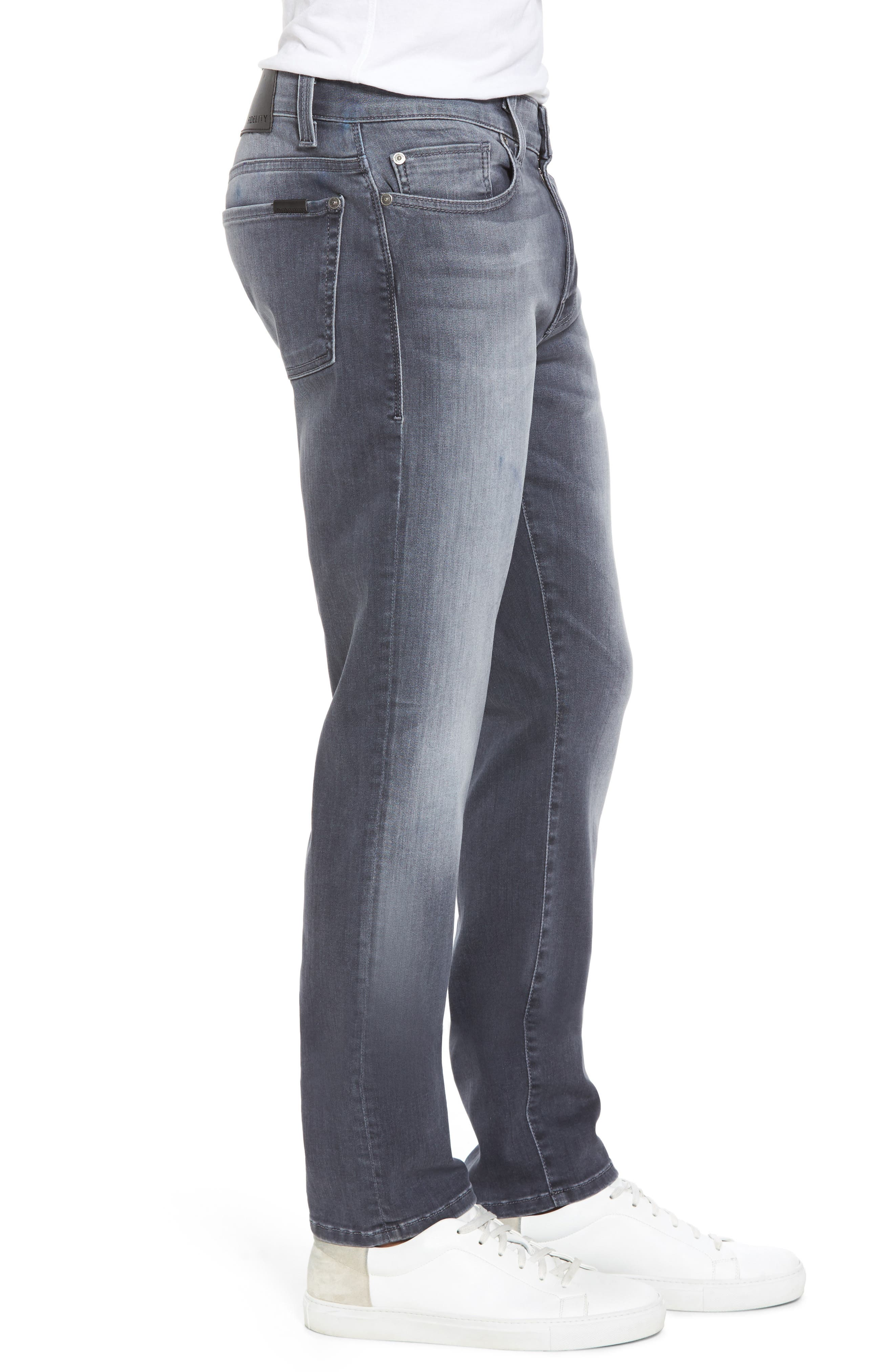 Alternate Image 3  - Fidelity Denim Torino Slim Fit Jeans (Fade To Grey)