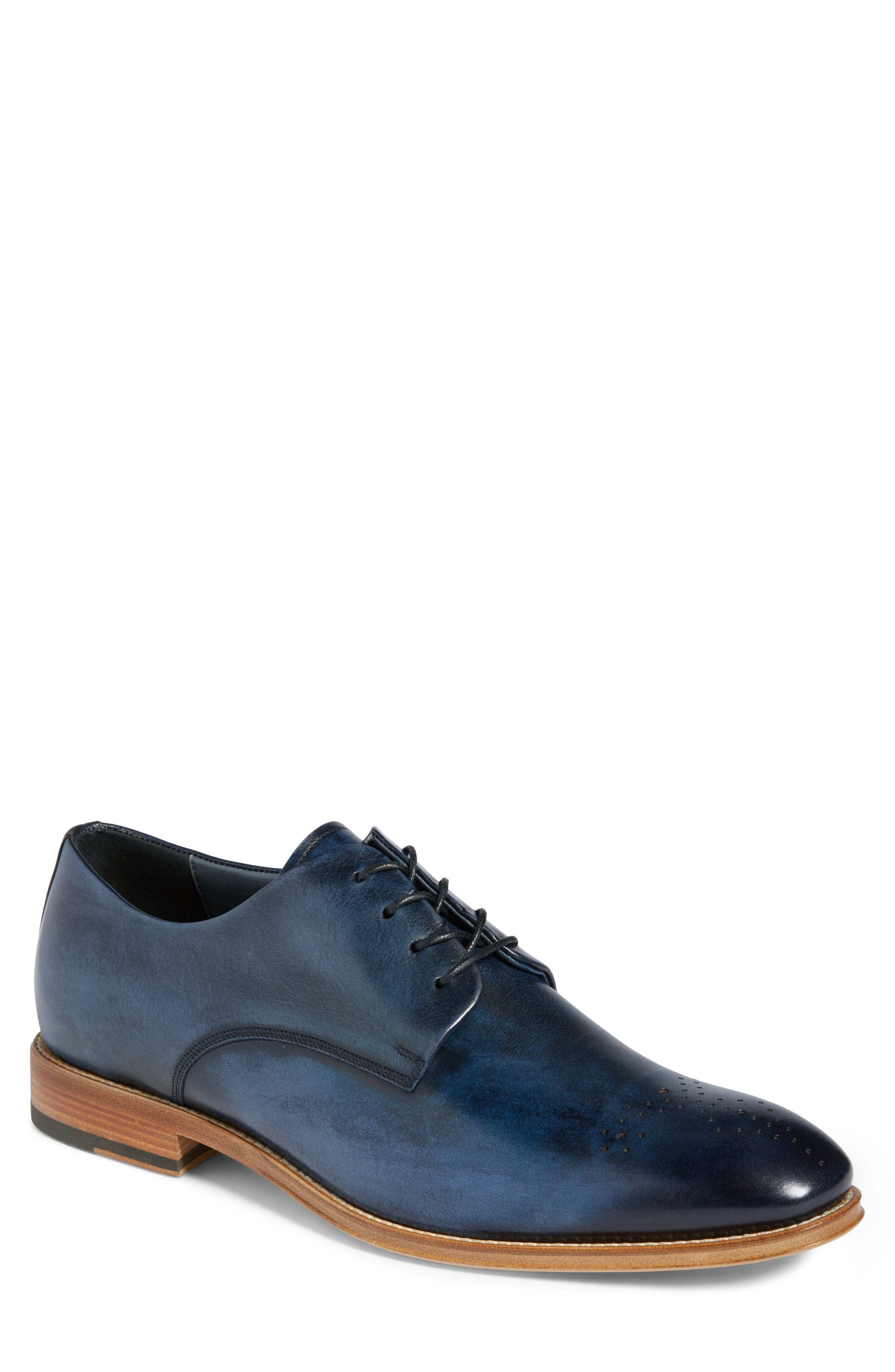 Alessandro Derby,                             Main thumbnail 1, color,                             Navy Leather