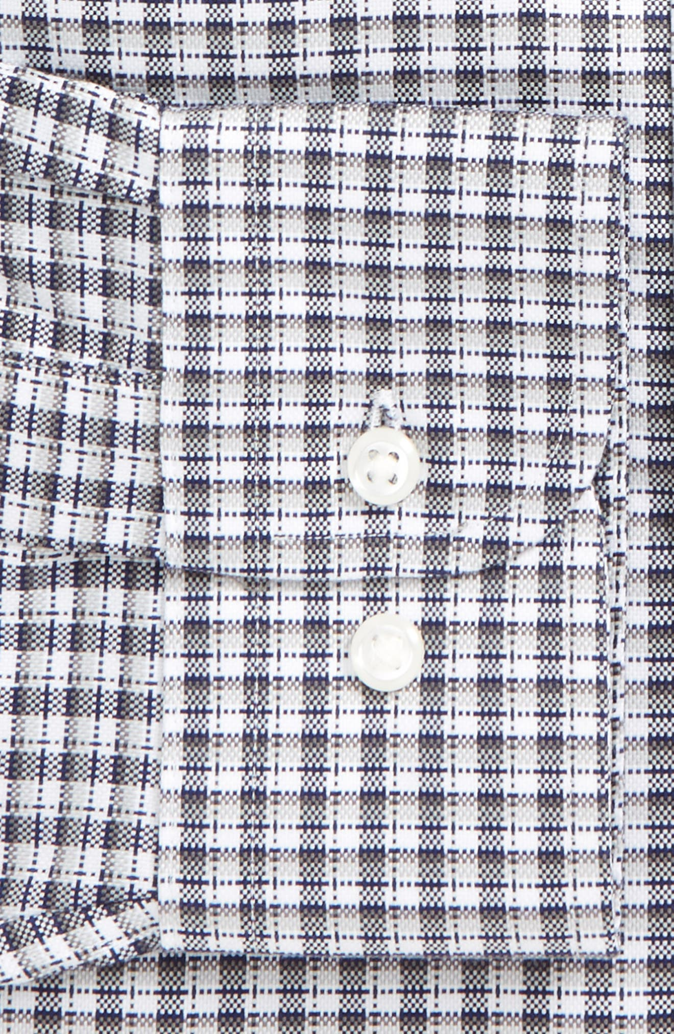 Smartcare<sup>®</sup> Traditional Fit Check Dress Shirt,                             Alternate thumbnail 2, color,                             Grey Chromium