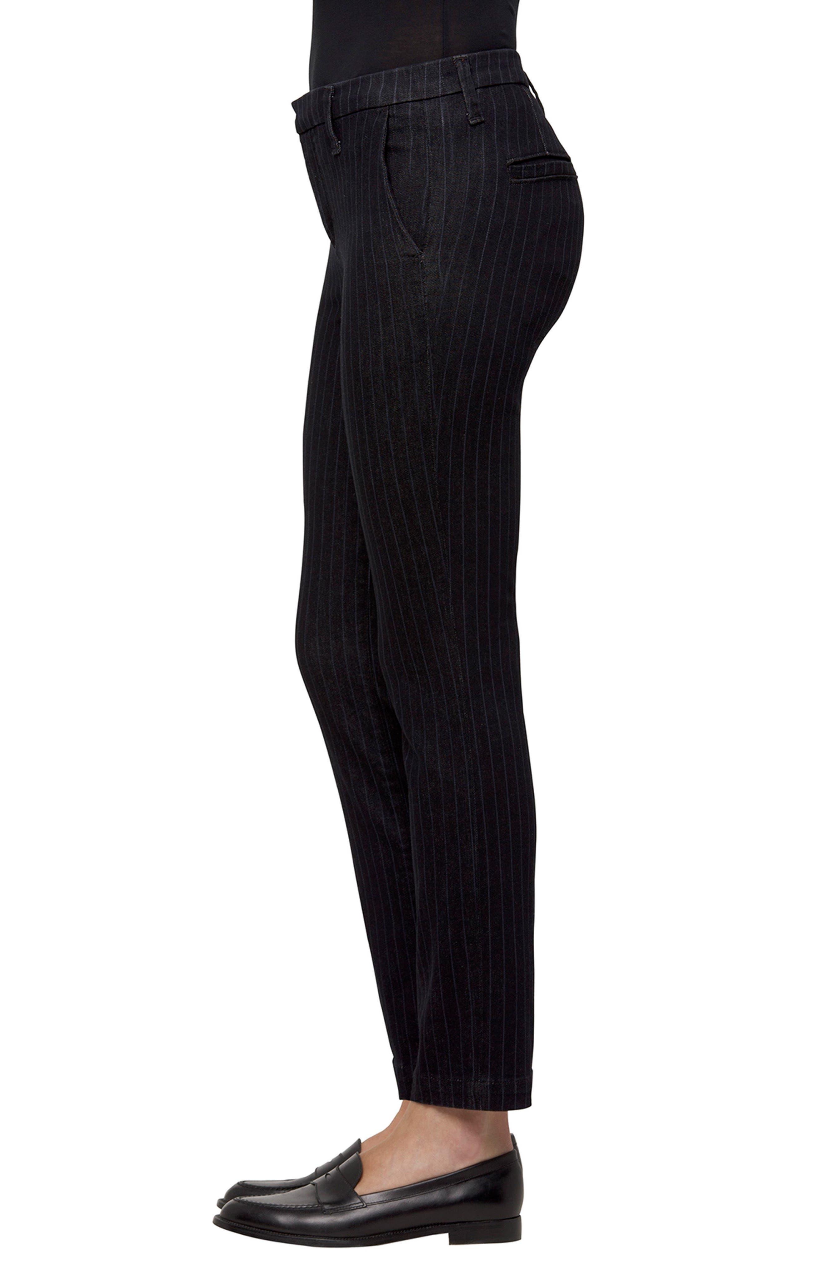 Clara Stripe Ankle Trousers,                             Alternate thumbnail 3, color,                             Pinstripe