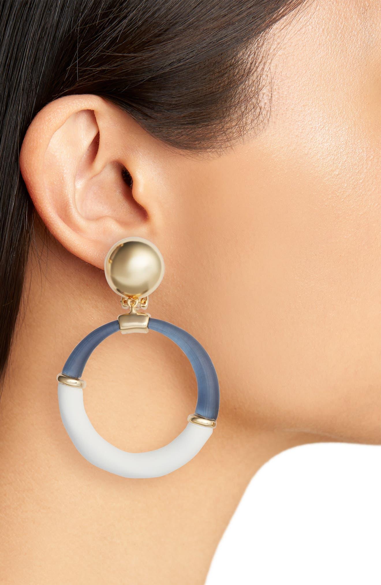 Alternate Image 2  - Alexis Bittar Split Hoop Drop Earrings