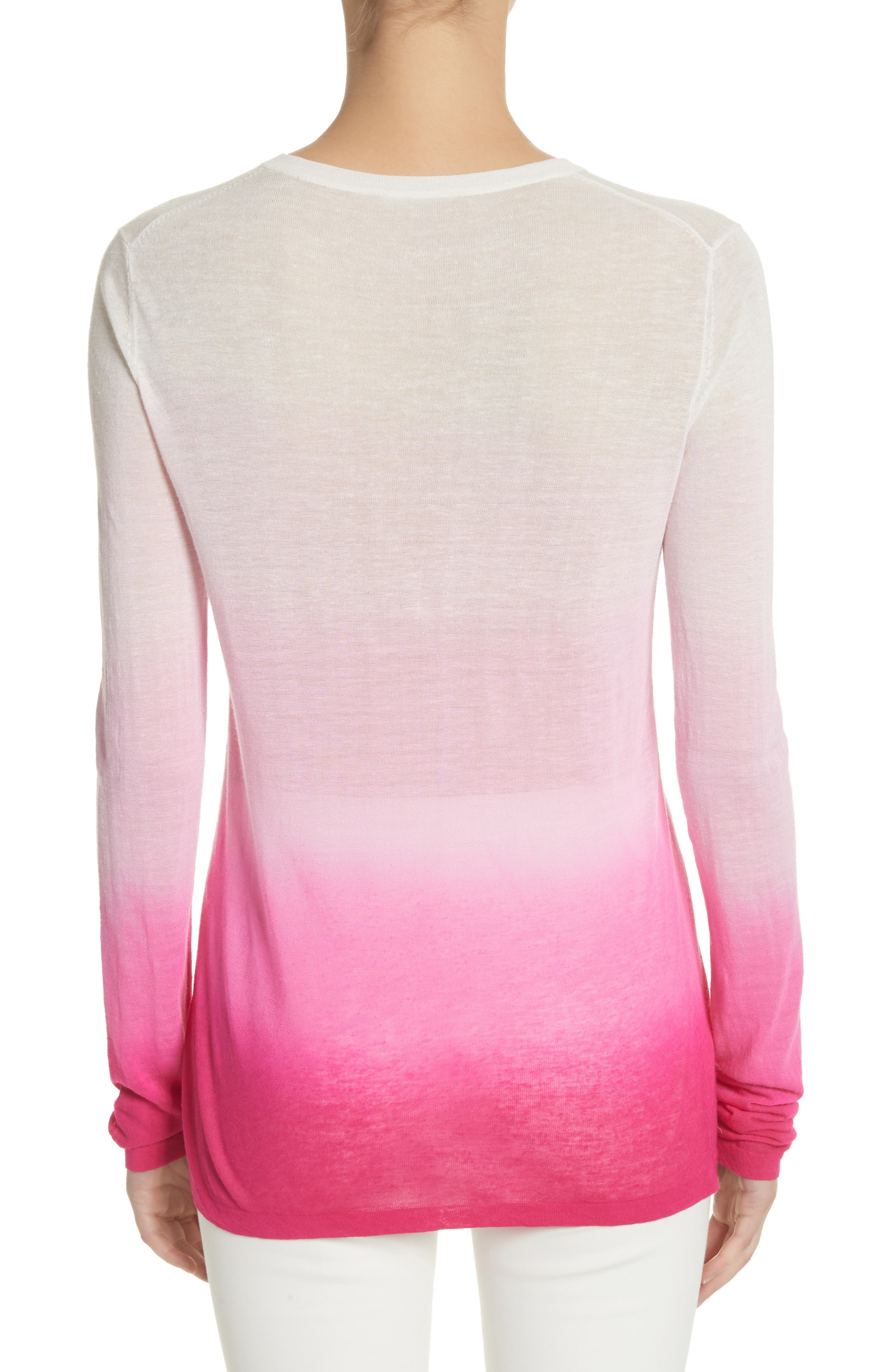 Ombré Sweater,                             Alternate thumbnail 2, color,                             Rosewater