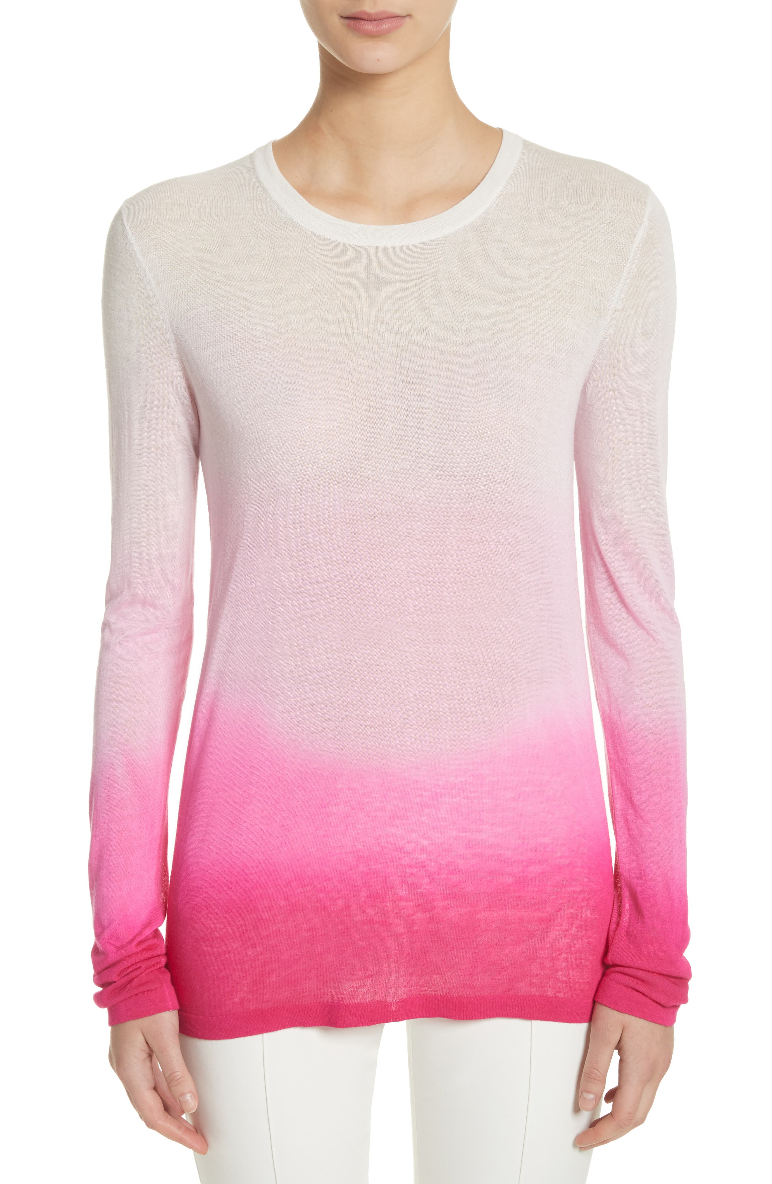 Ombré Sweater,                             Main thumbnail 1, color,                             Rosewater