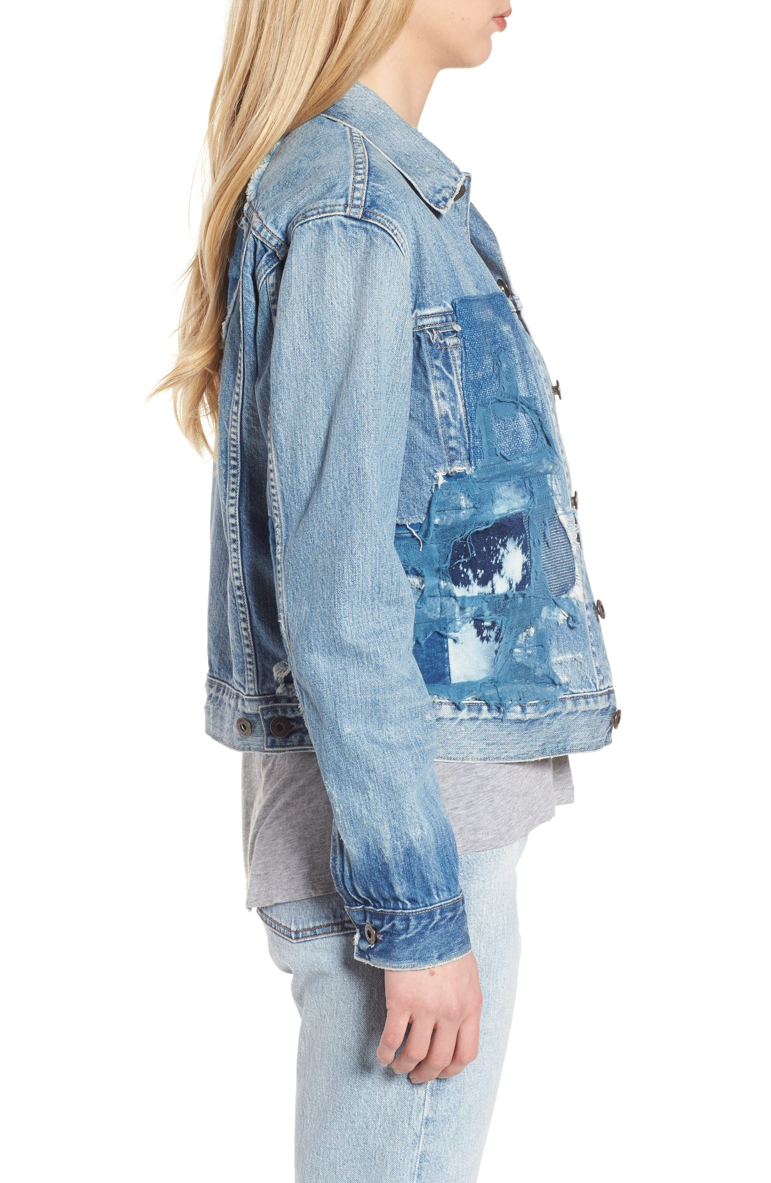 Made & Crafted<sup>™</sup> Boyfriend Trucker Jacket,                             Alternate thumbnail 4, color,                             Taito Light