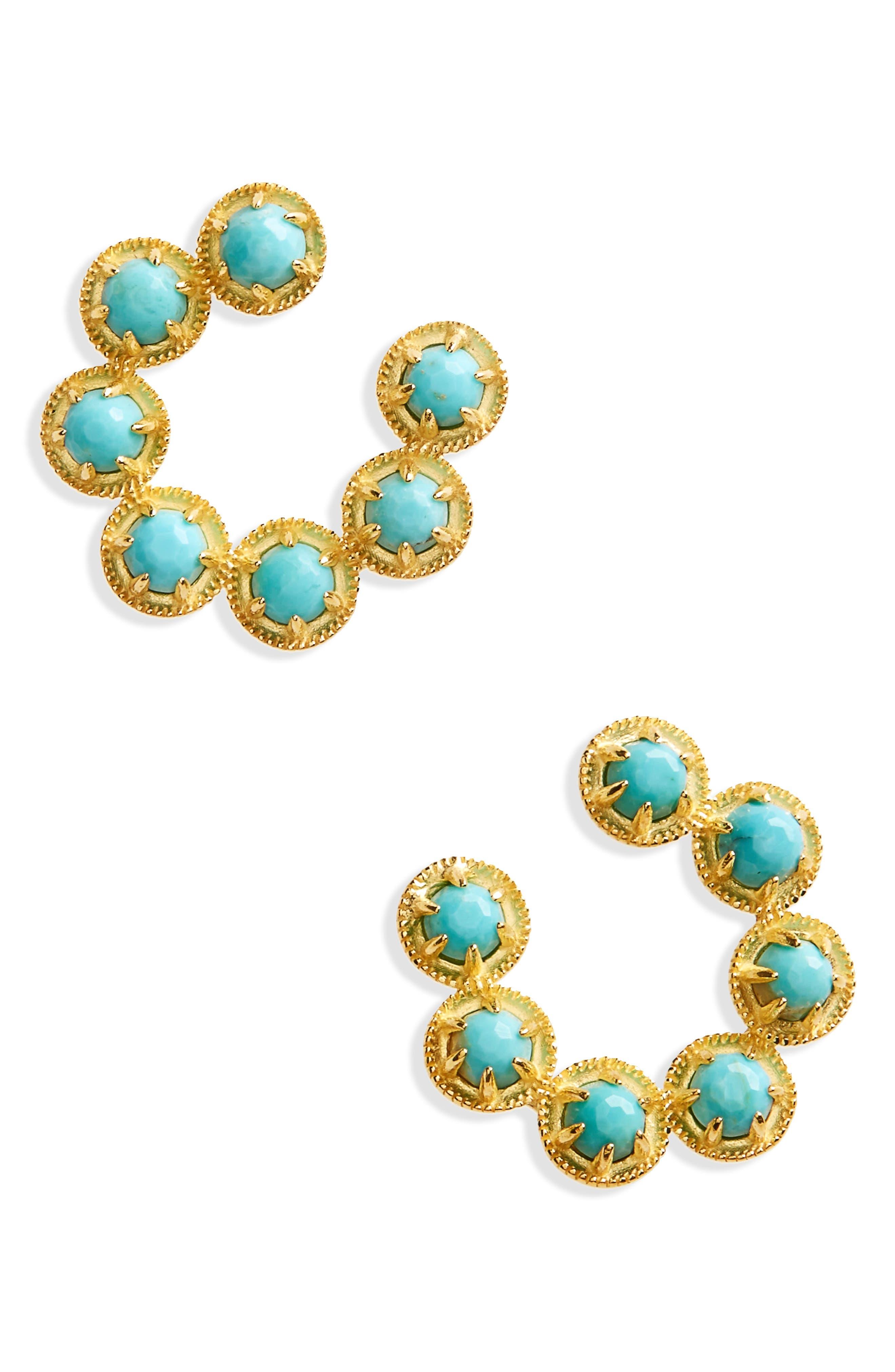 Nadri Cleo Vermeil Hoop Earrings