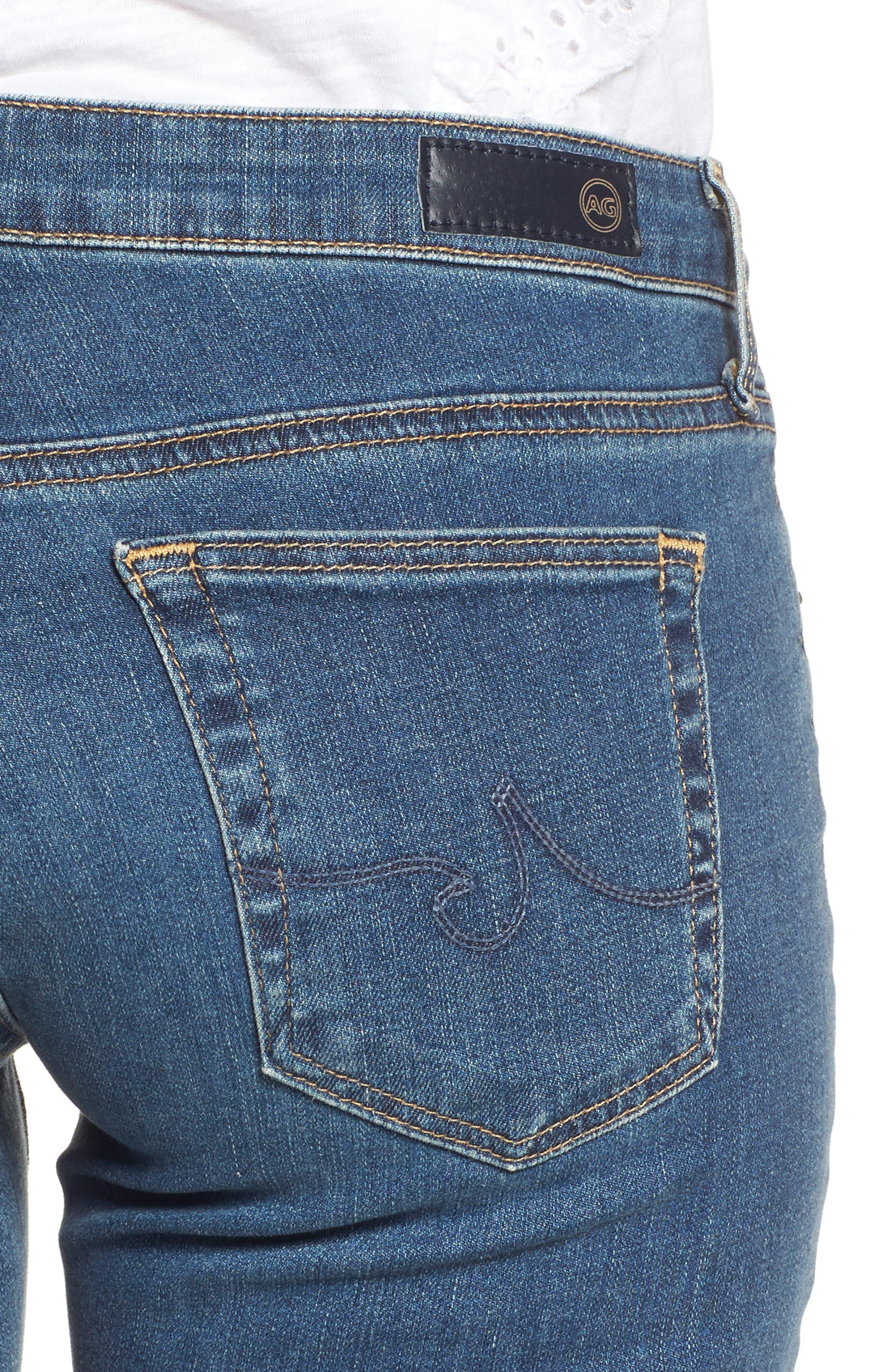 Alternate Image 4  - AG The Stilt Cigarette Leg Jeans (Serendipitous)