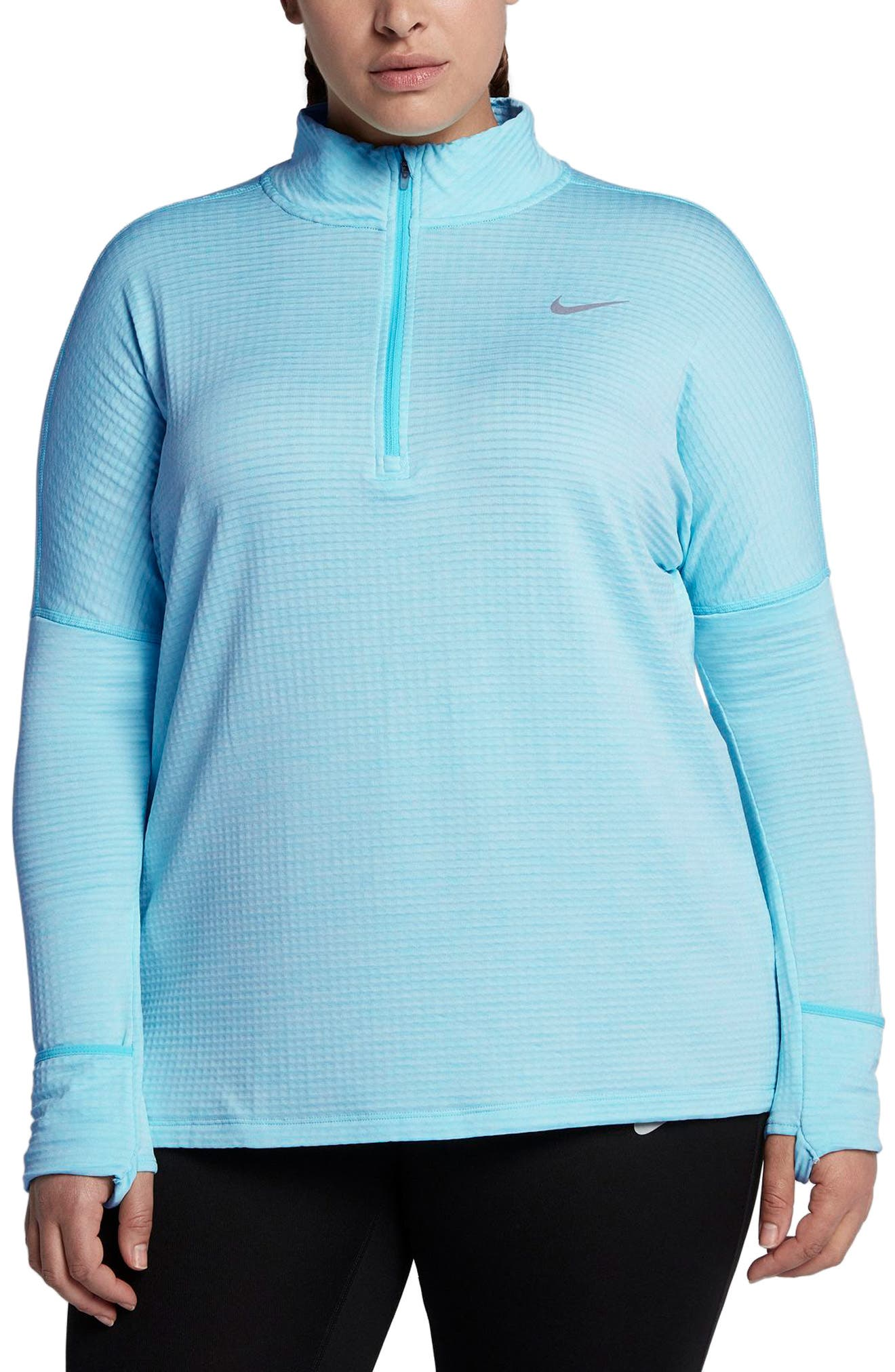 Sphere Element Long Sleeve Running Top,                             Main thumbnail 1, color,                             Polarized Blue/ Htr