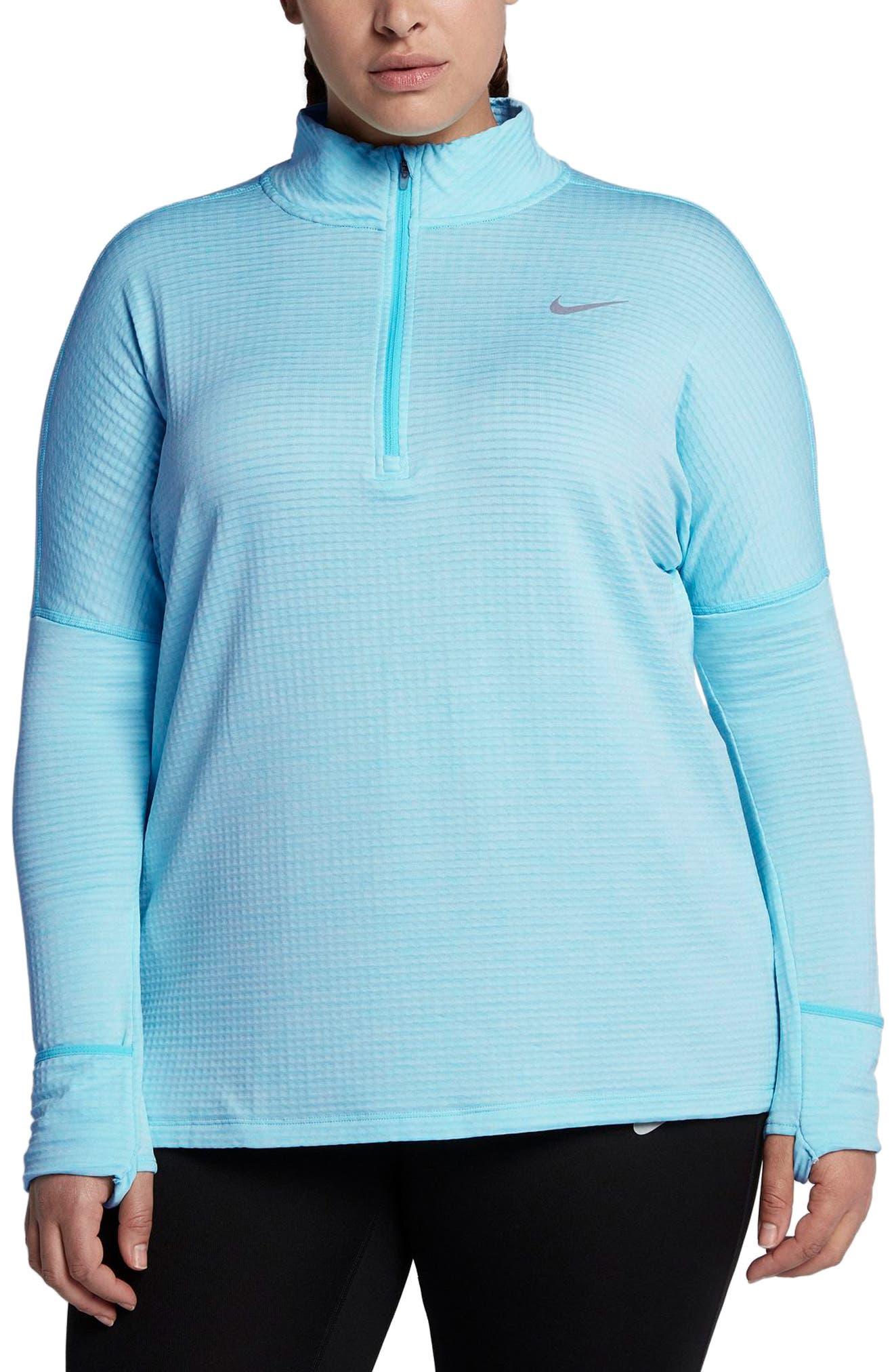 Main Image - Nike Sphere Element Long Sleeve Running Top (Plus Size)