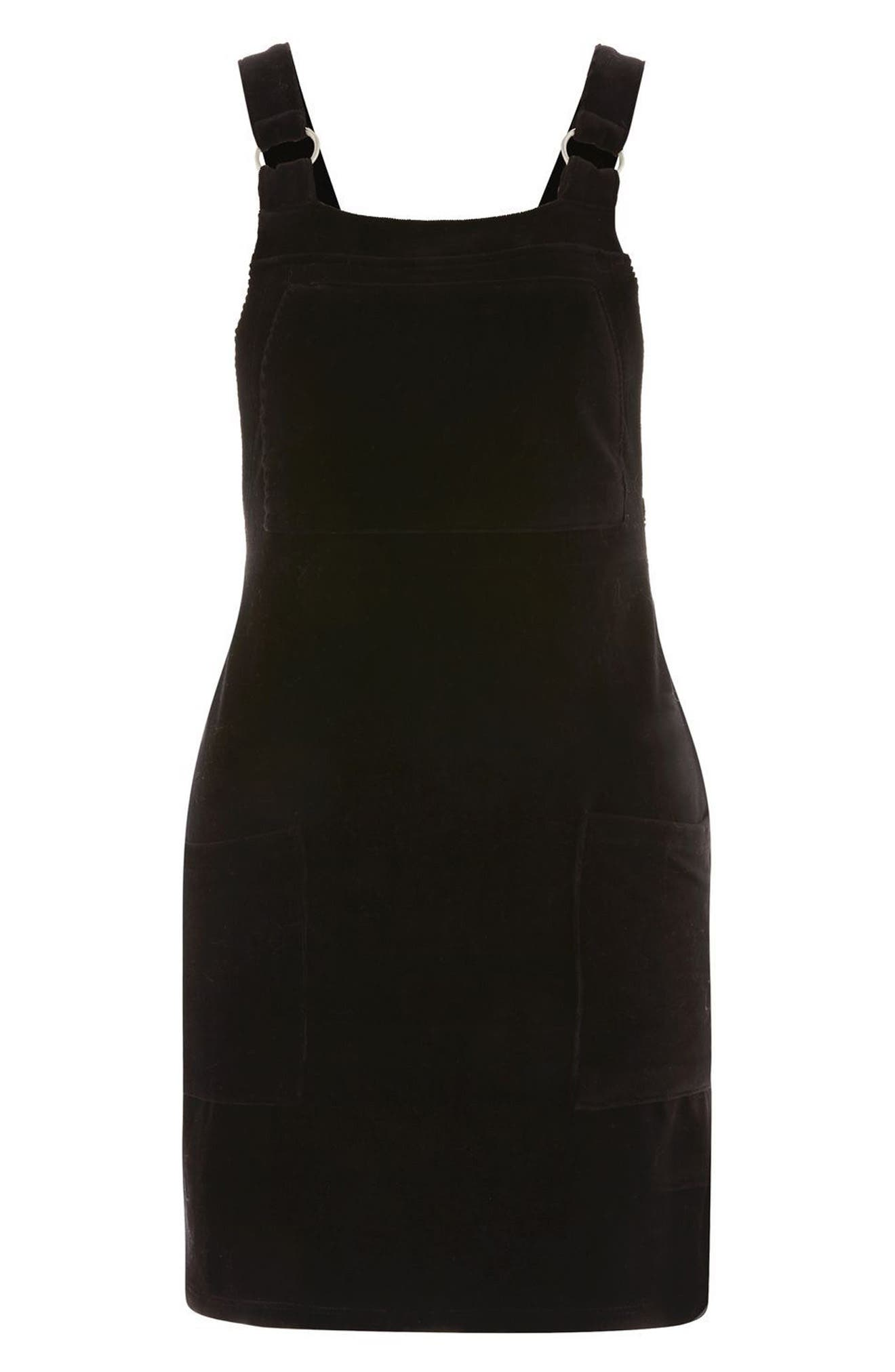Alternate Image 3  - Topshop Corduroy Pinafore Dress