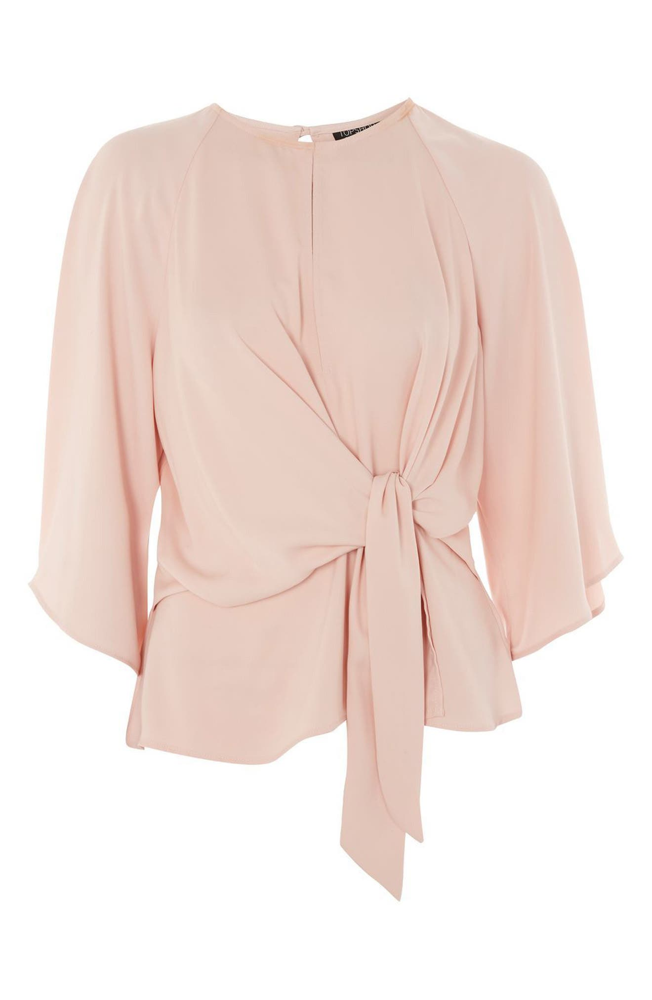 Alternate Image 4  - Topshop Slouchy Knot Front Blouse