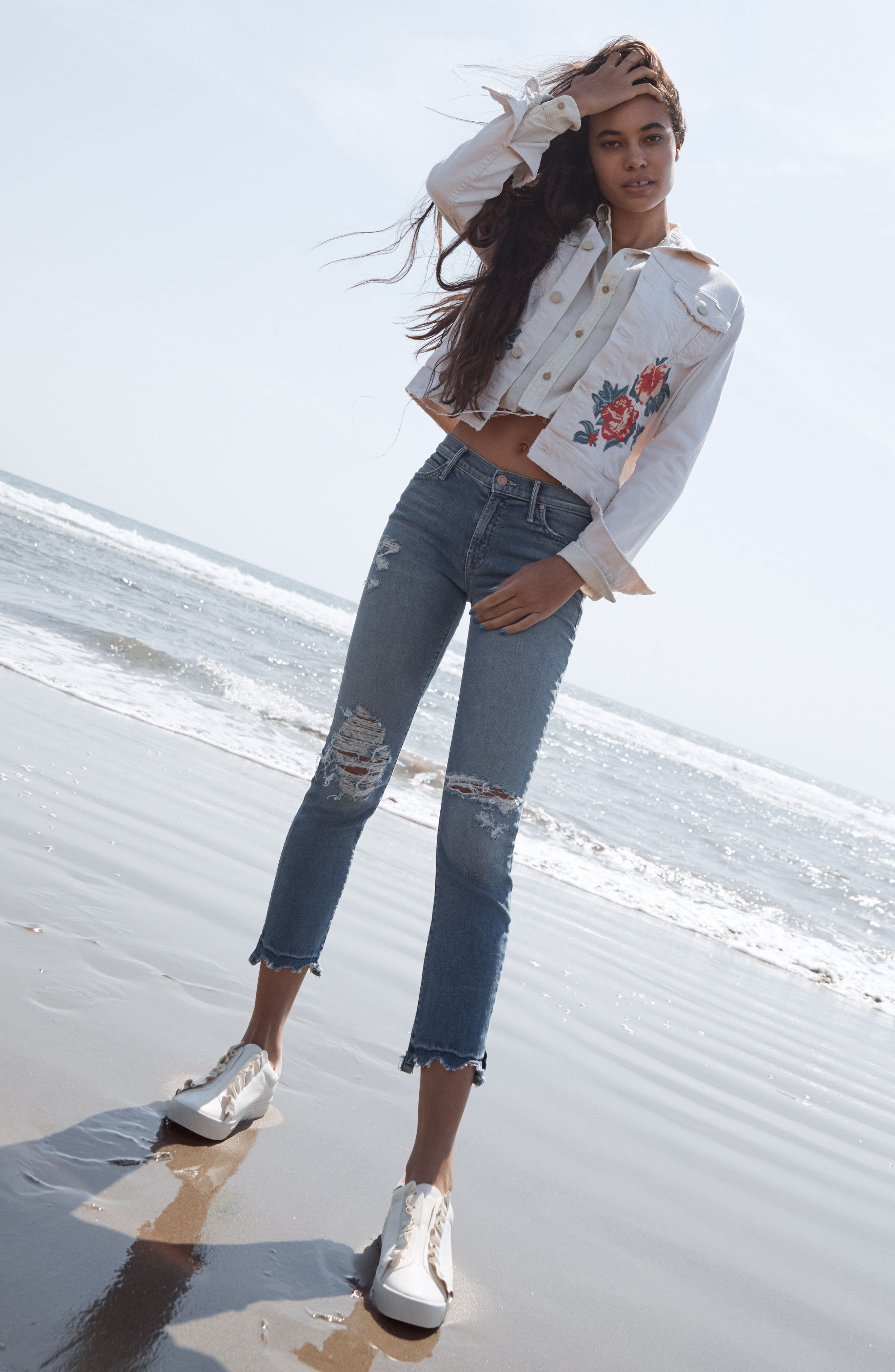 Alternate Image 2  - MOTHER The Rascal High Waist Ankle Jeans (Push The Envelope)