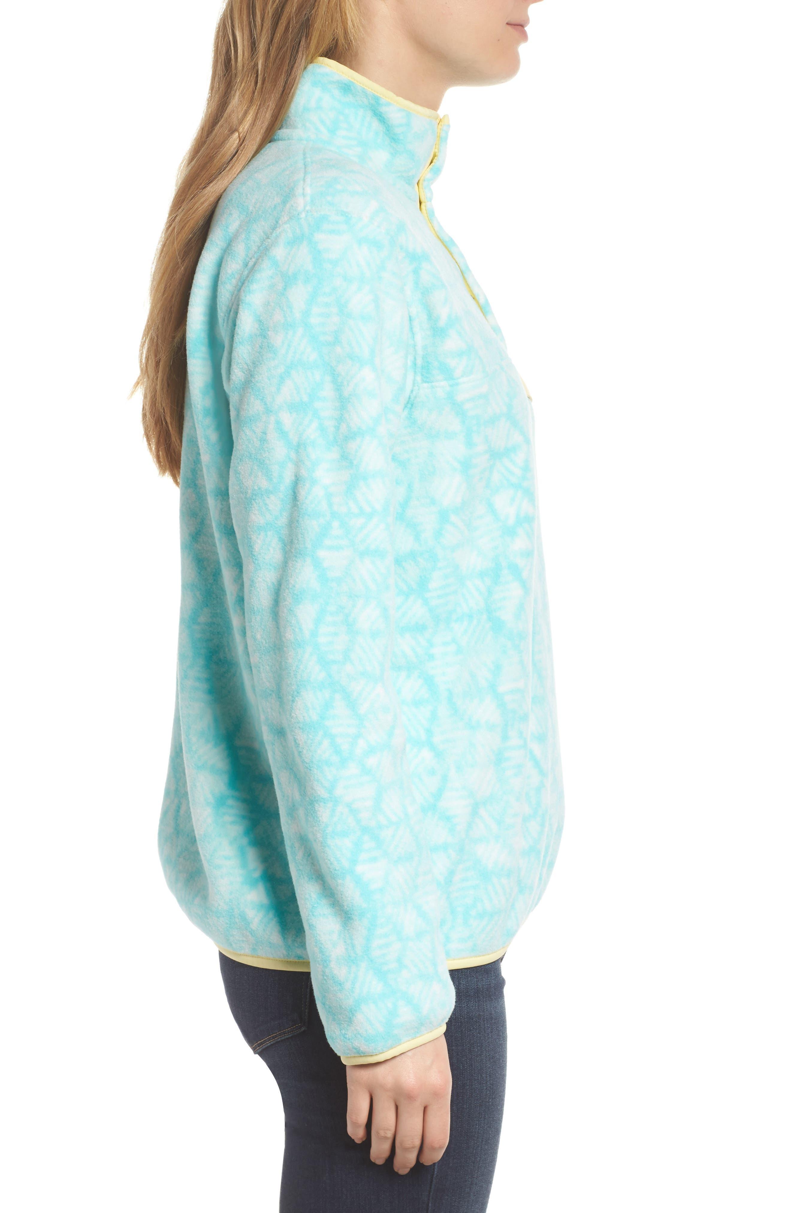 Synchilla Snap-T<sup>®</sup> Fleece Pullover,                             Alternate thumbnail 3, color,                             Batik Hex Big/ Bend Blue