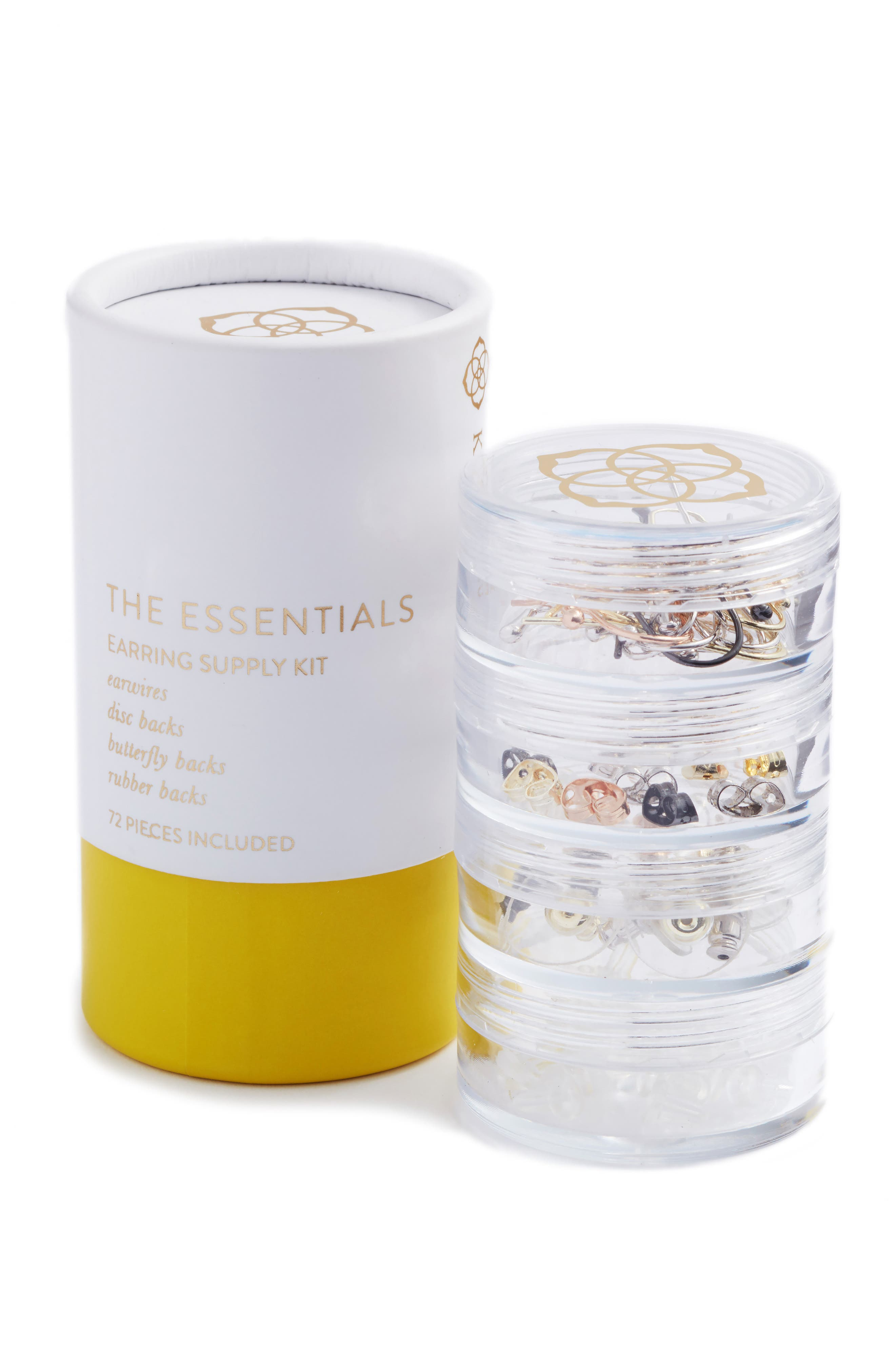 The Essentials Earring Supply Kit,                             Main thumbnail 1, color,                             Clear
