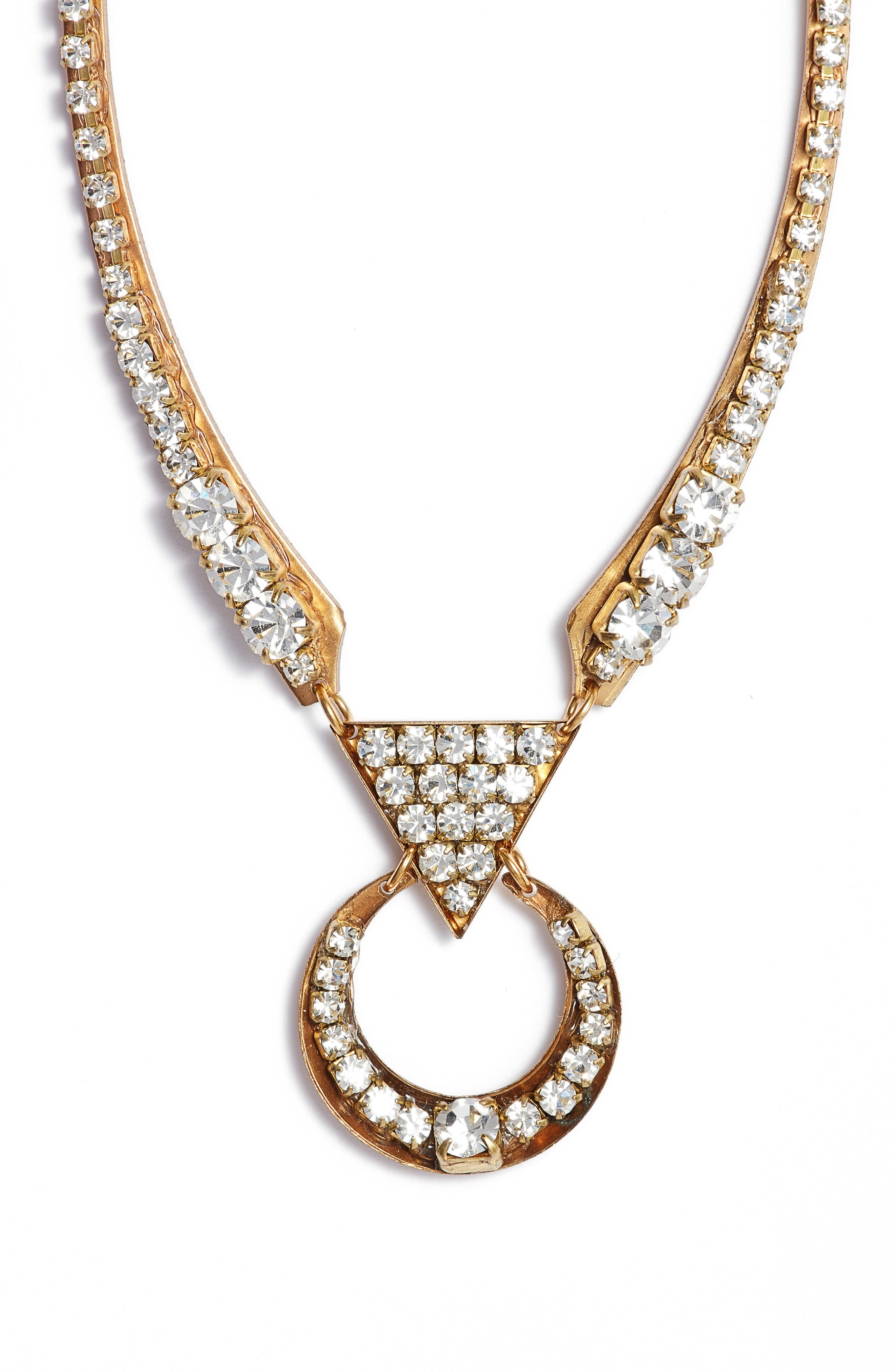 Alternate Image 1 Selected - Sandy Hyun Cutout Crystal Necklace