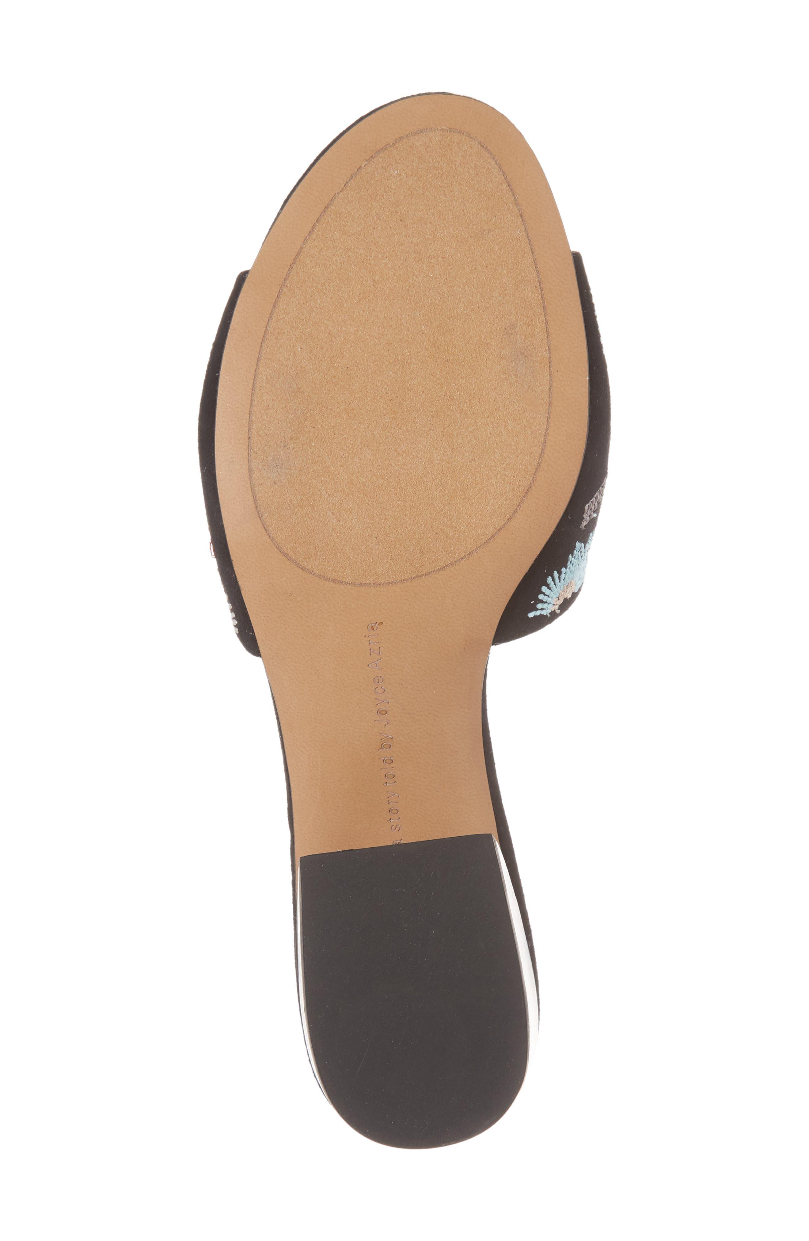 Sloane Sandal,                             Alternate thumbnail 6, color,                             Black Multi Fabric