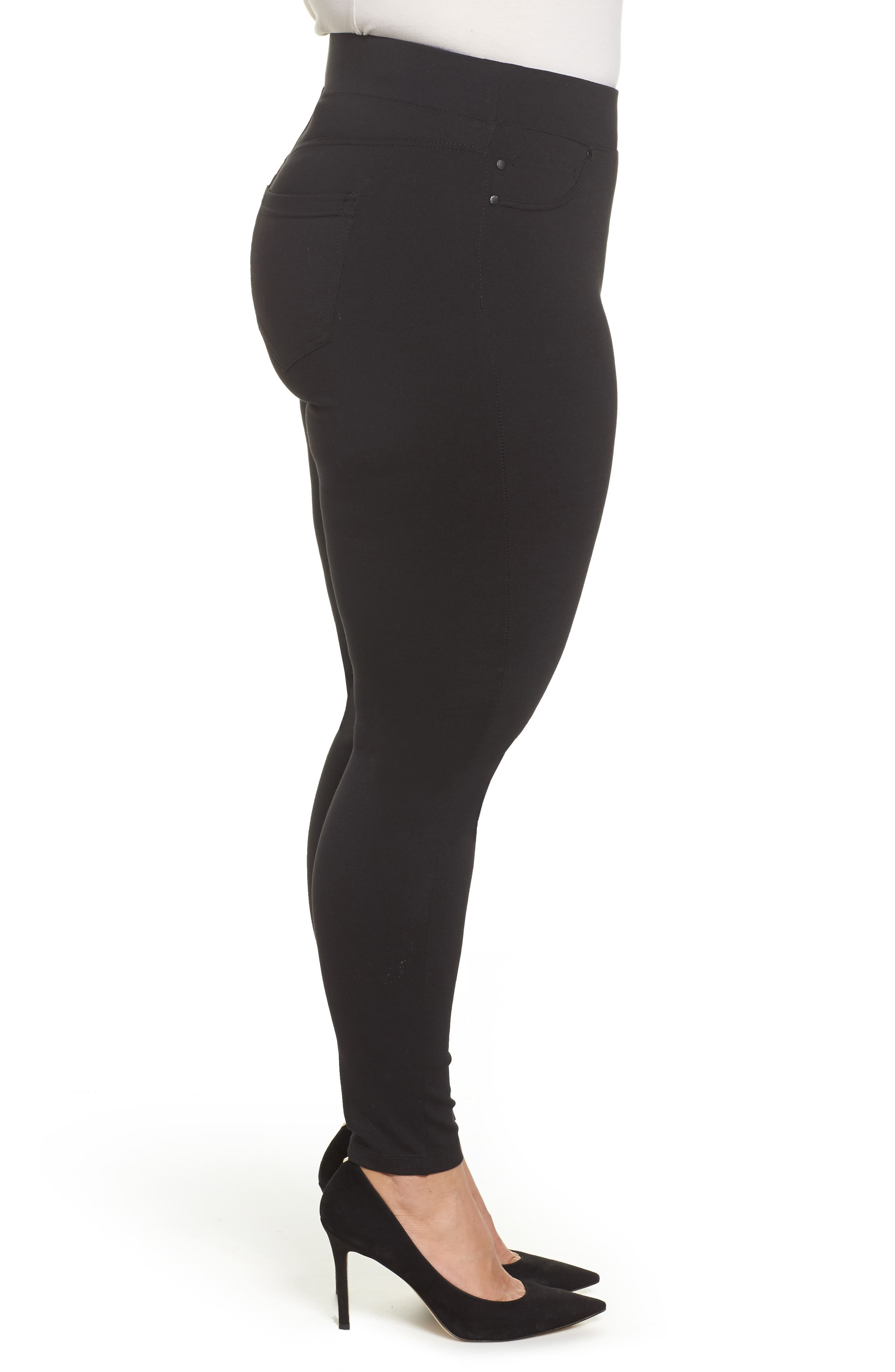 Alternate Image 3  - Liverpool Jeans Company Ponte Knit Leggings (Plus Size)