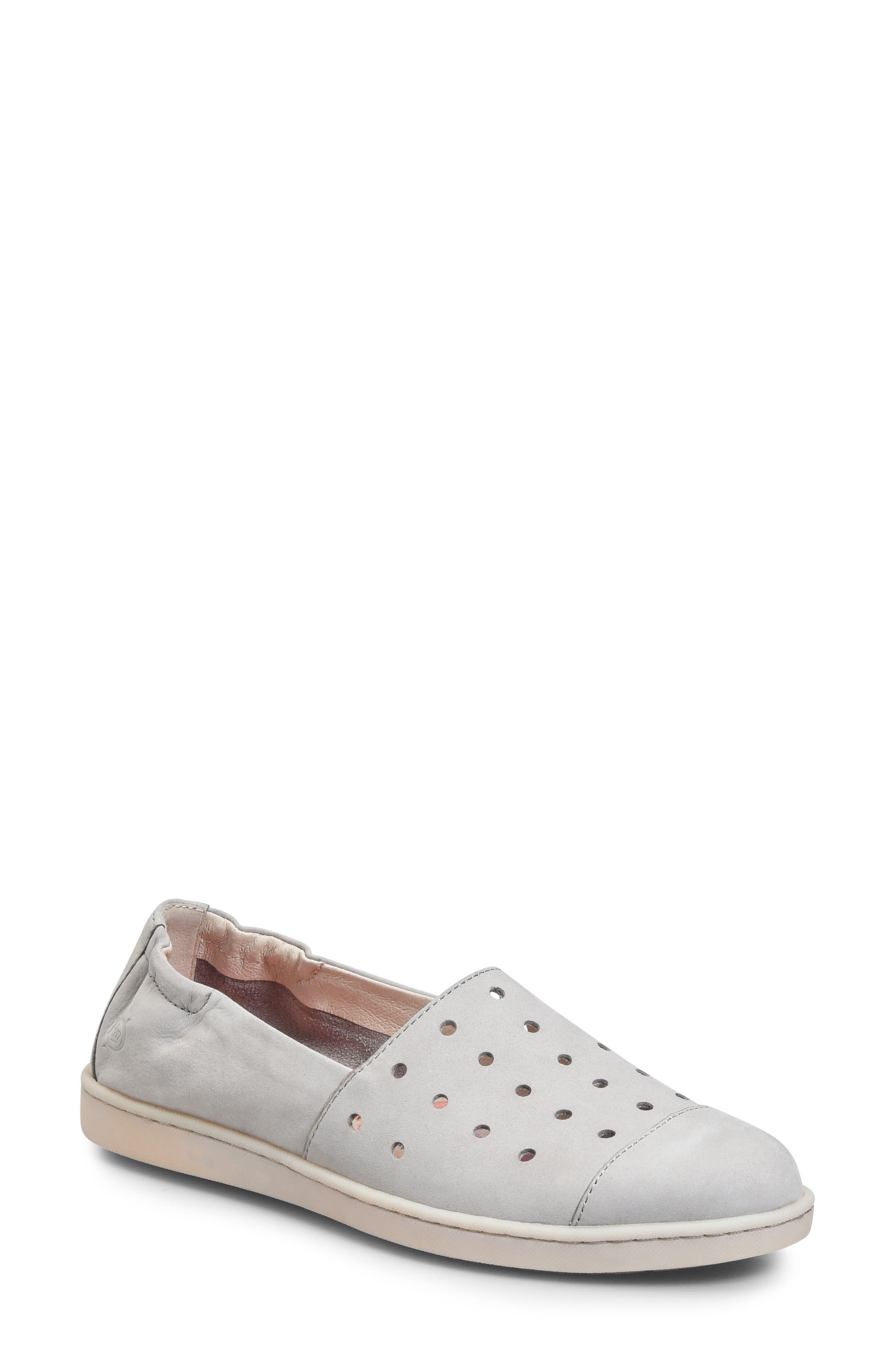Kristin Sneaker,                         Main,                         color, Light Grey Nubuck Leather