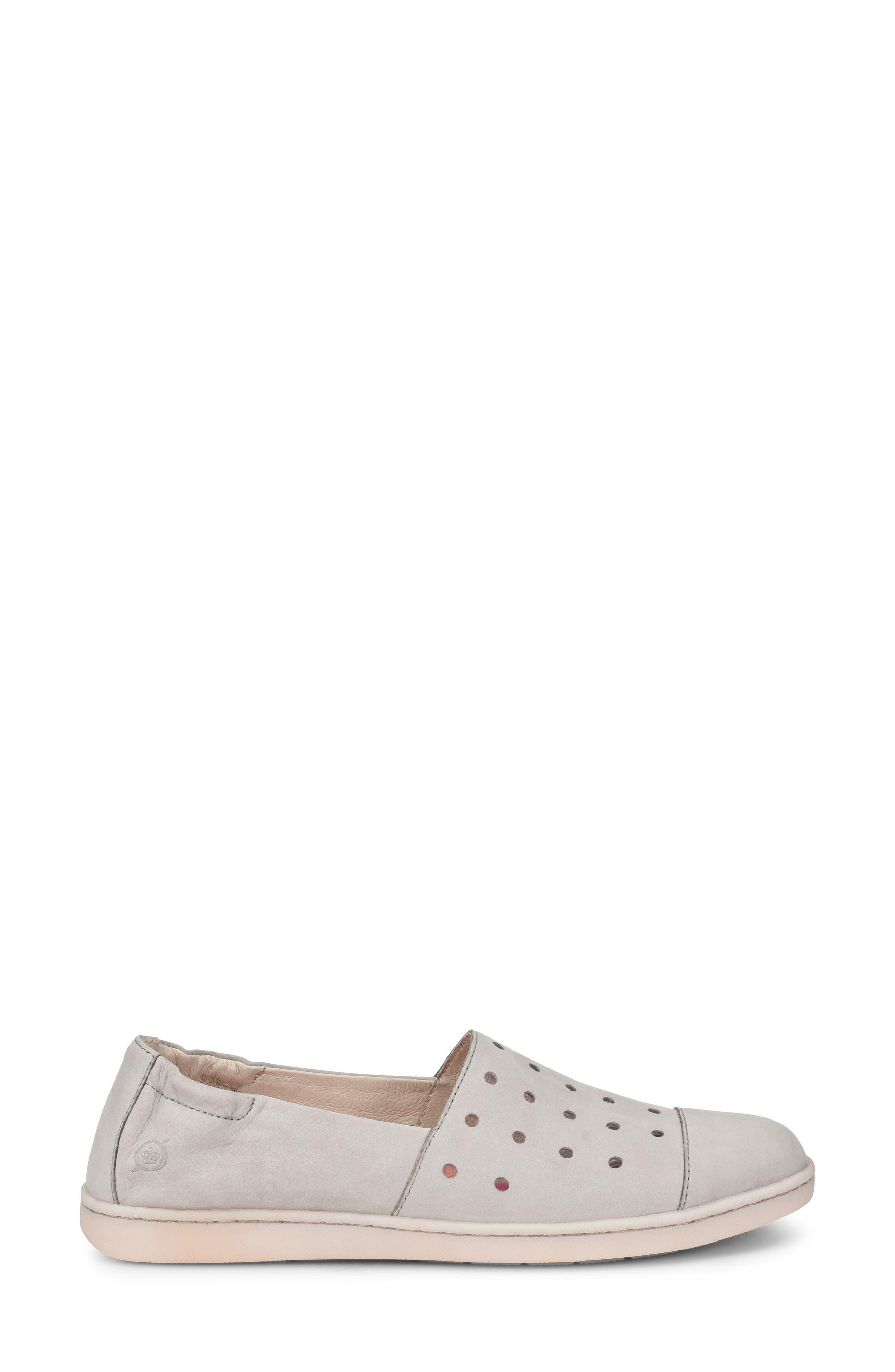 Kristin Sneaker,                             Alternate thumbnail 3, color,                             Light Grey Nubuck Leather