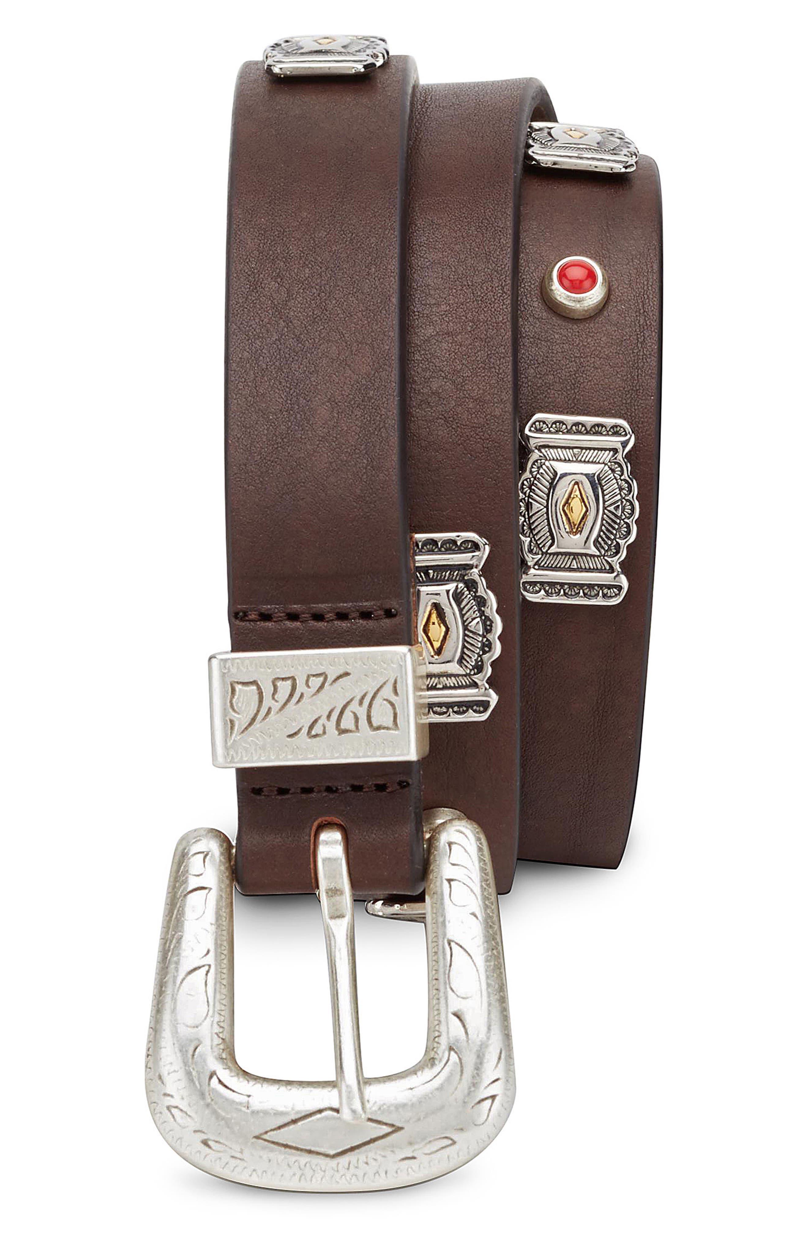 Eleventy Embellished Belt