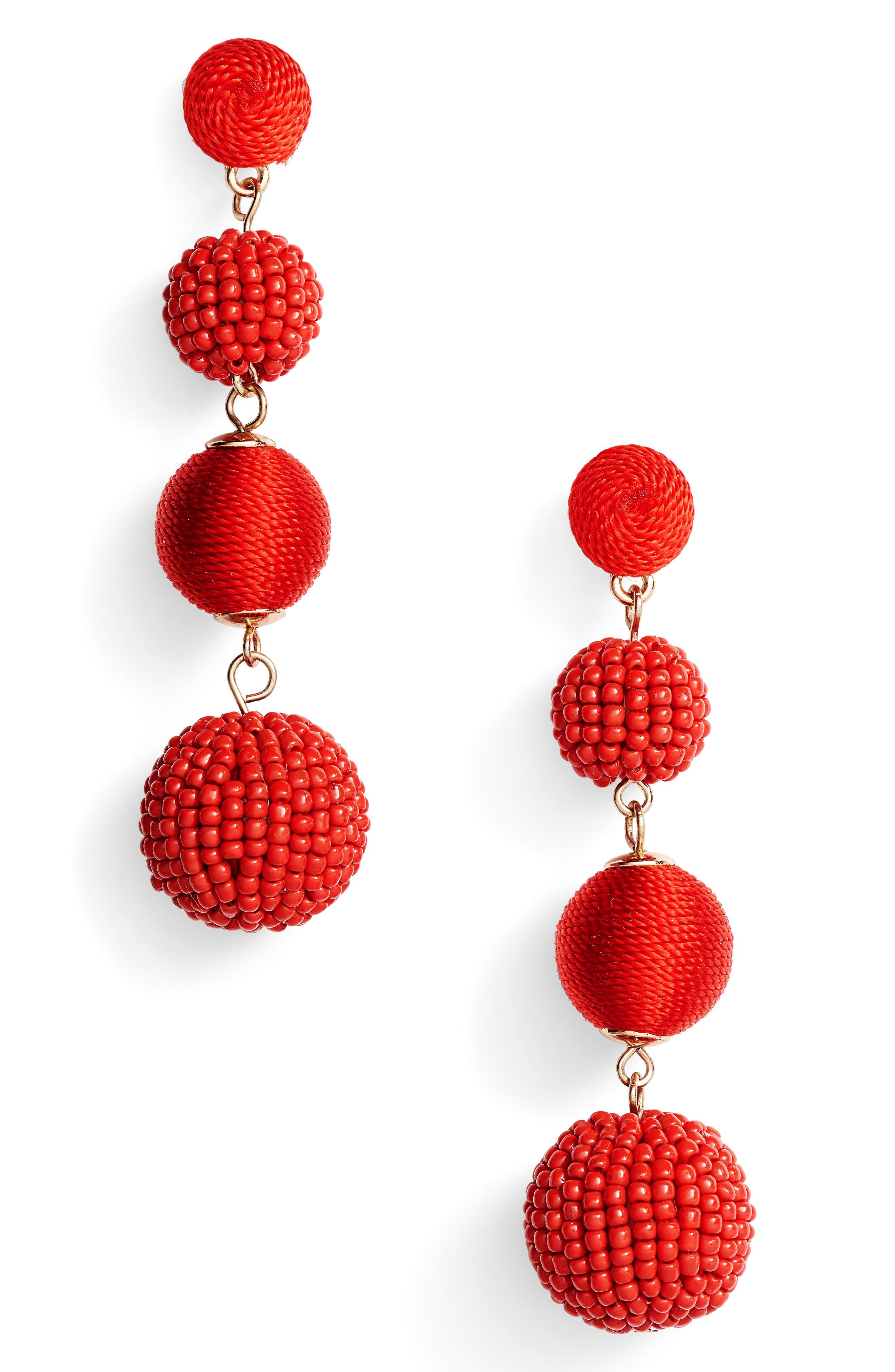 Alternate Image 1 Selected - Tasha Mixed Bead & Thread Drop Earrings