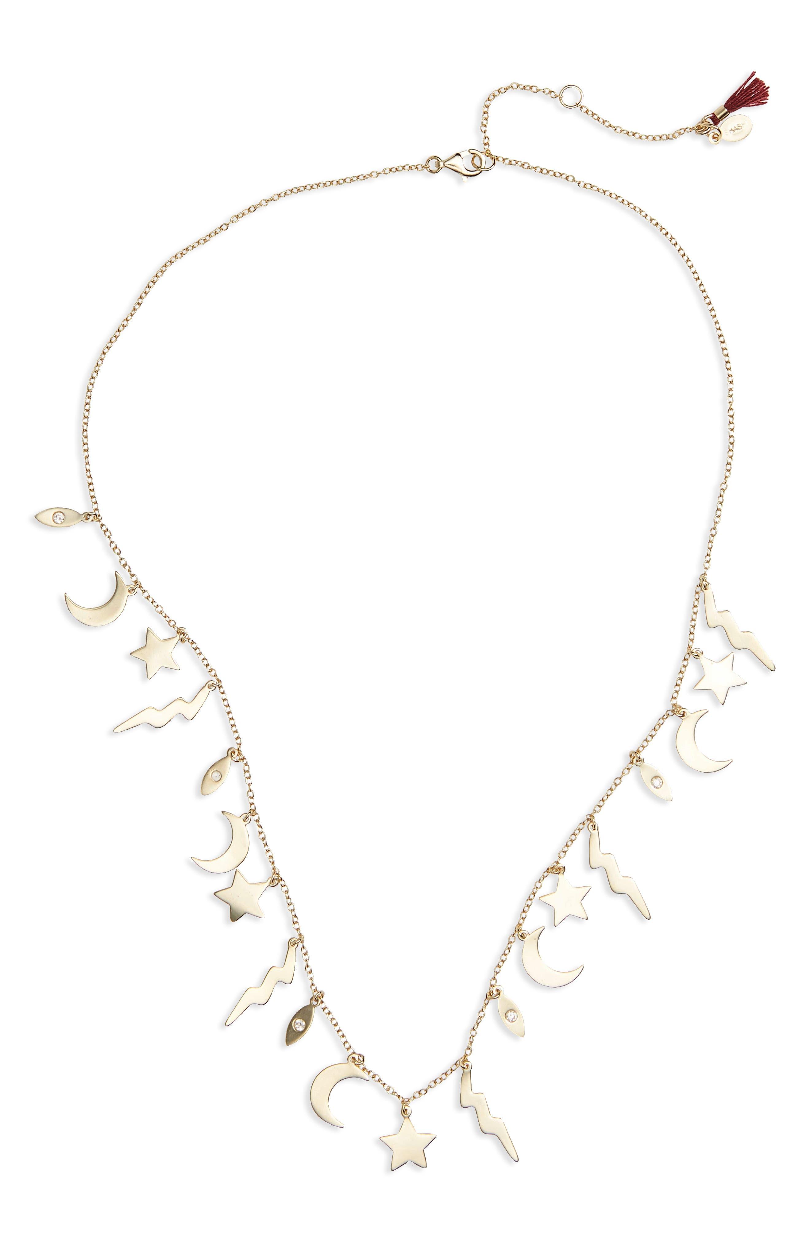 Shashi Multi Charm Necklace