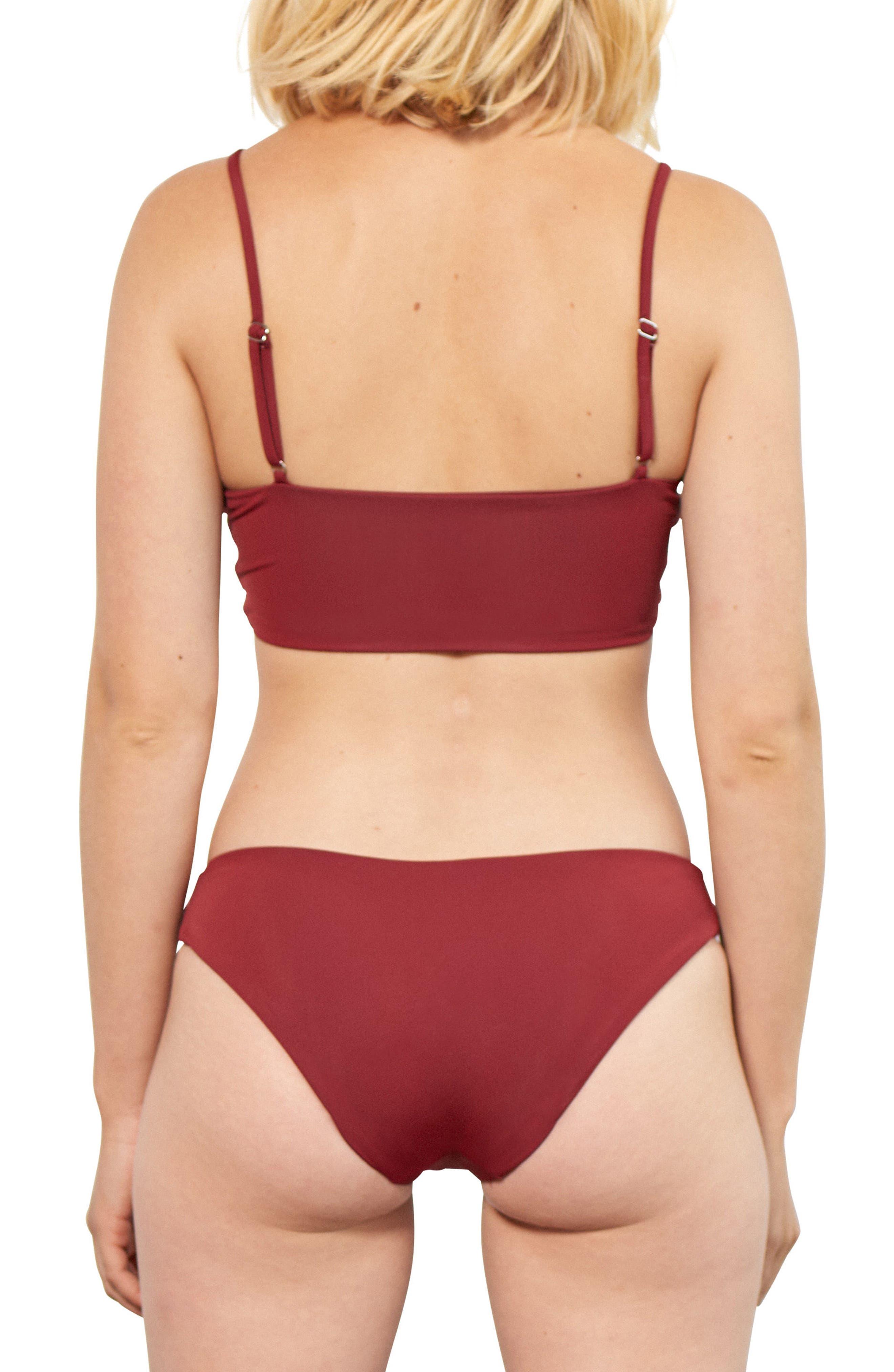 Scarlett Bikini Top,                             Alternate thumbnail 4, color,                             Nairobi