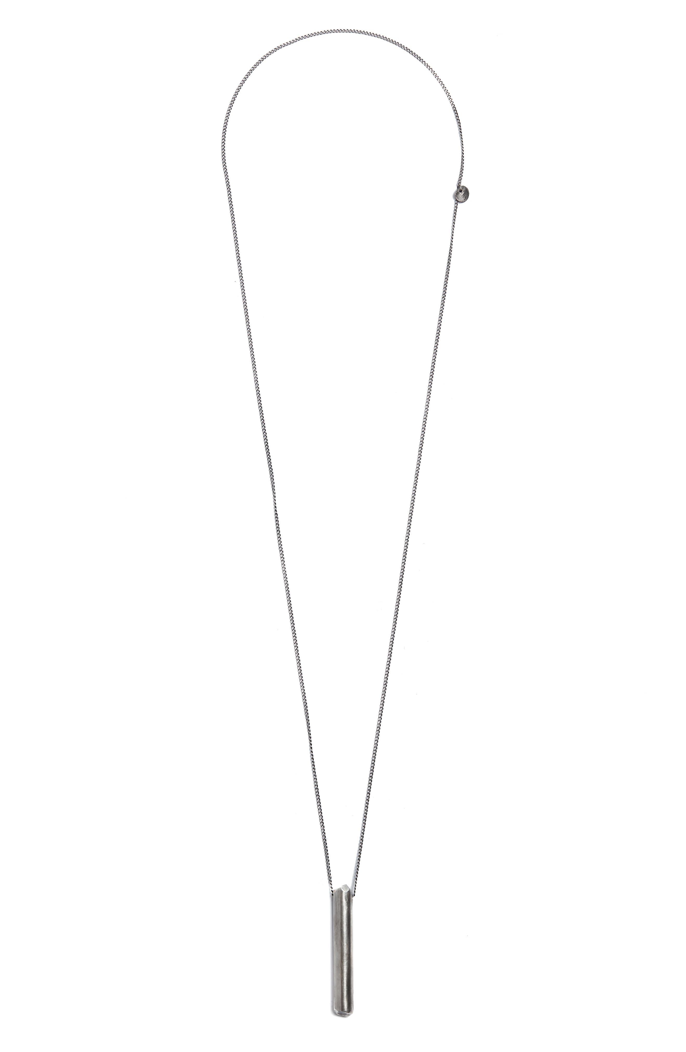 Rod Pendant Necklace,                             Main thumbnail 1, color,                             Silver