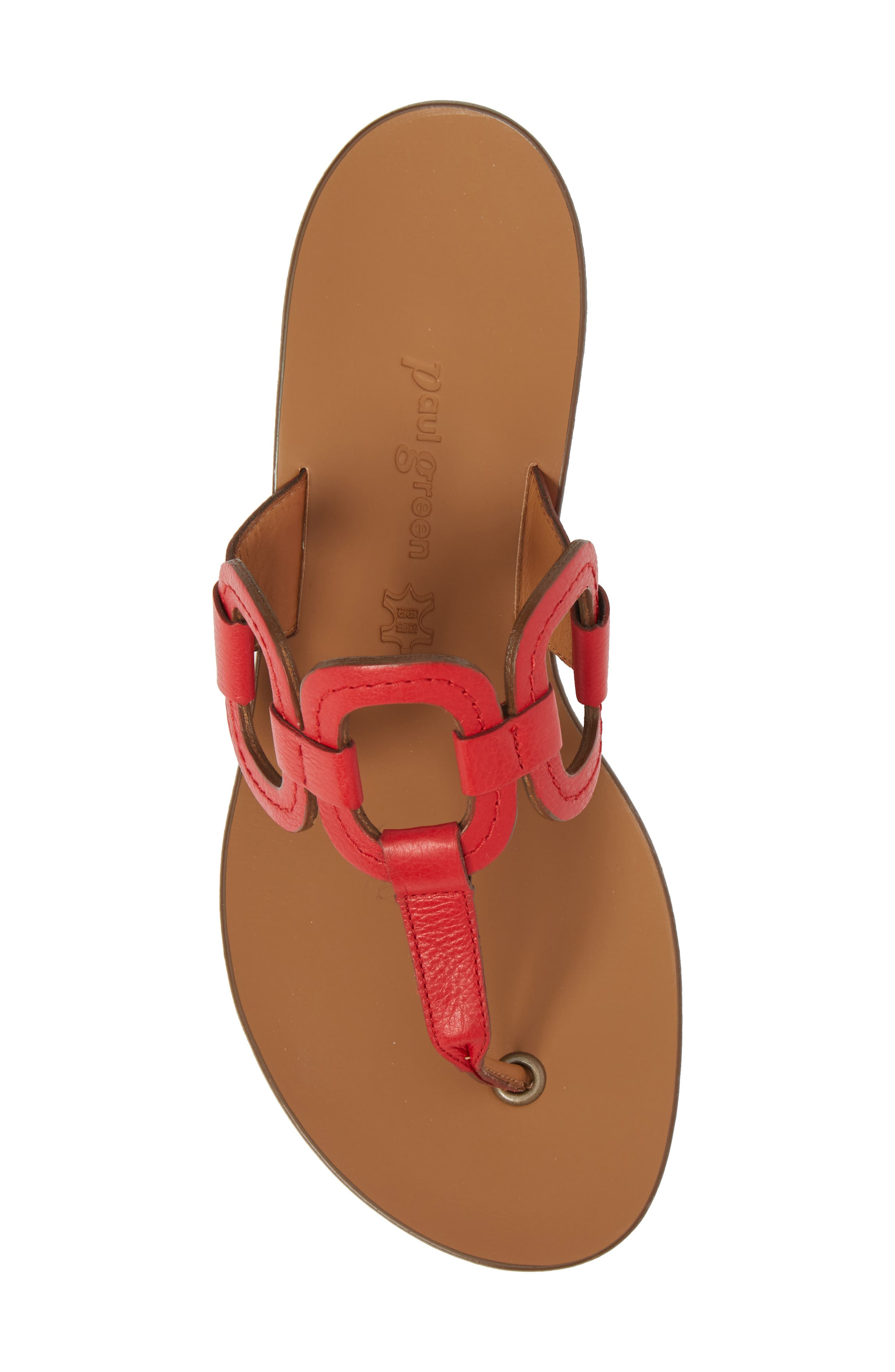 Lanai Flip-Flop,                             Alternate thumbnail 5, color,                             Red Leather