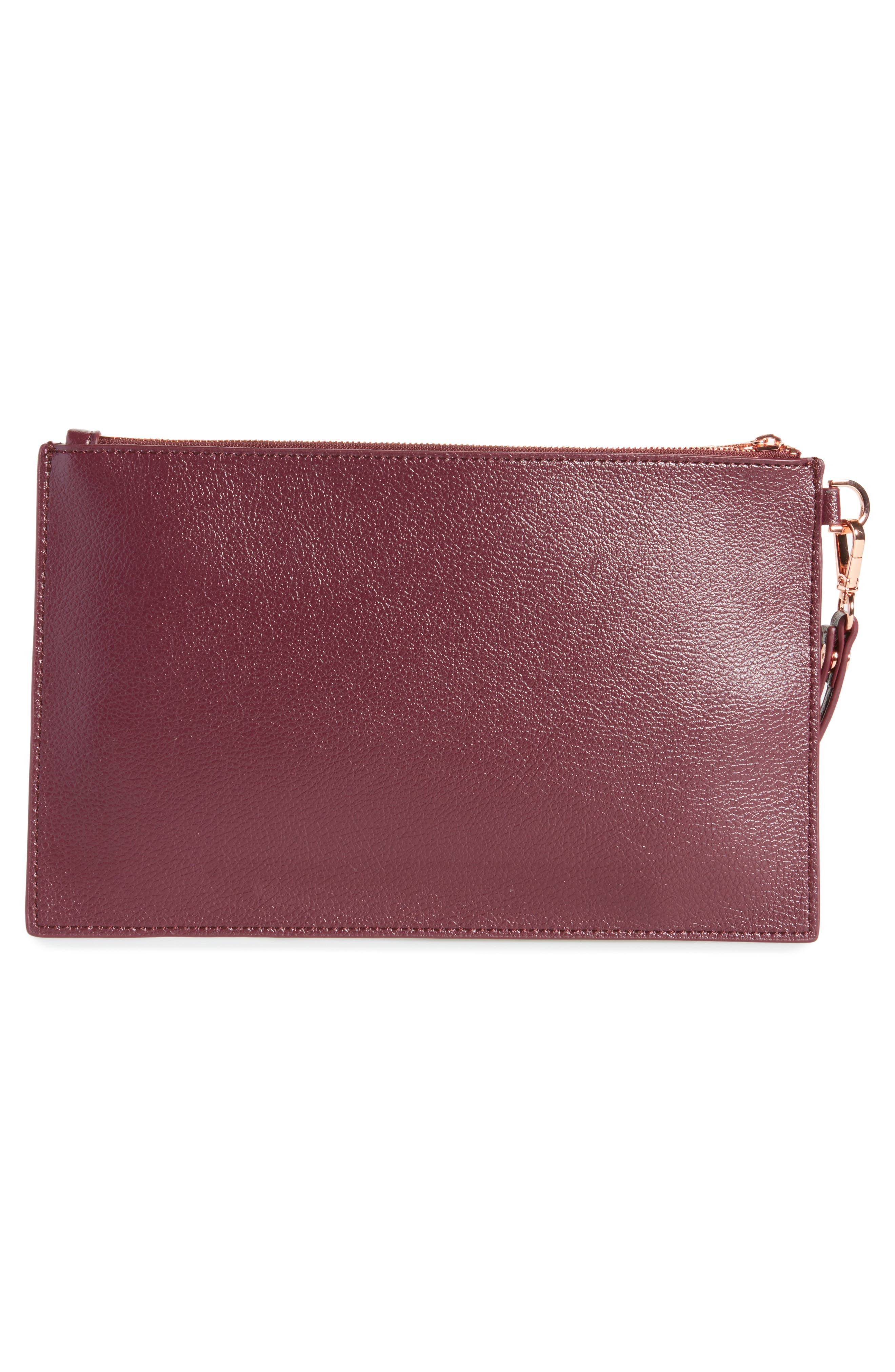Alternate Image 3  - Ted Baker London Top Zip Faux Leather Pouch