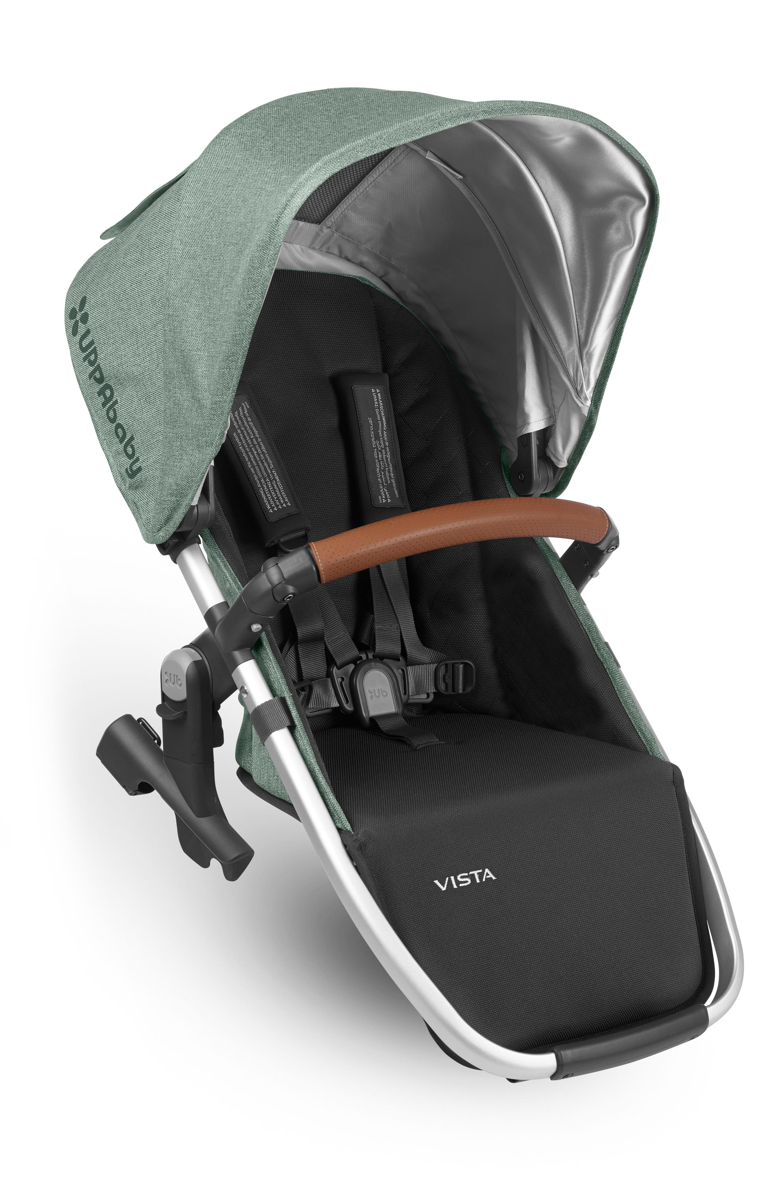 VISTA RumbleSeat with Leather Trim,                             Main thumbnail 1, color,                             Emmett Green/ Silver