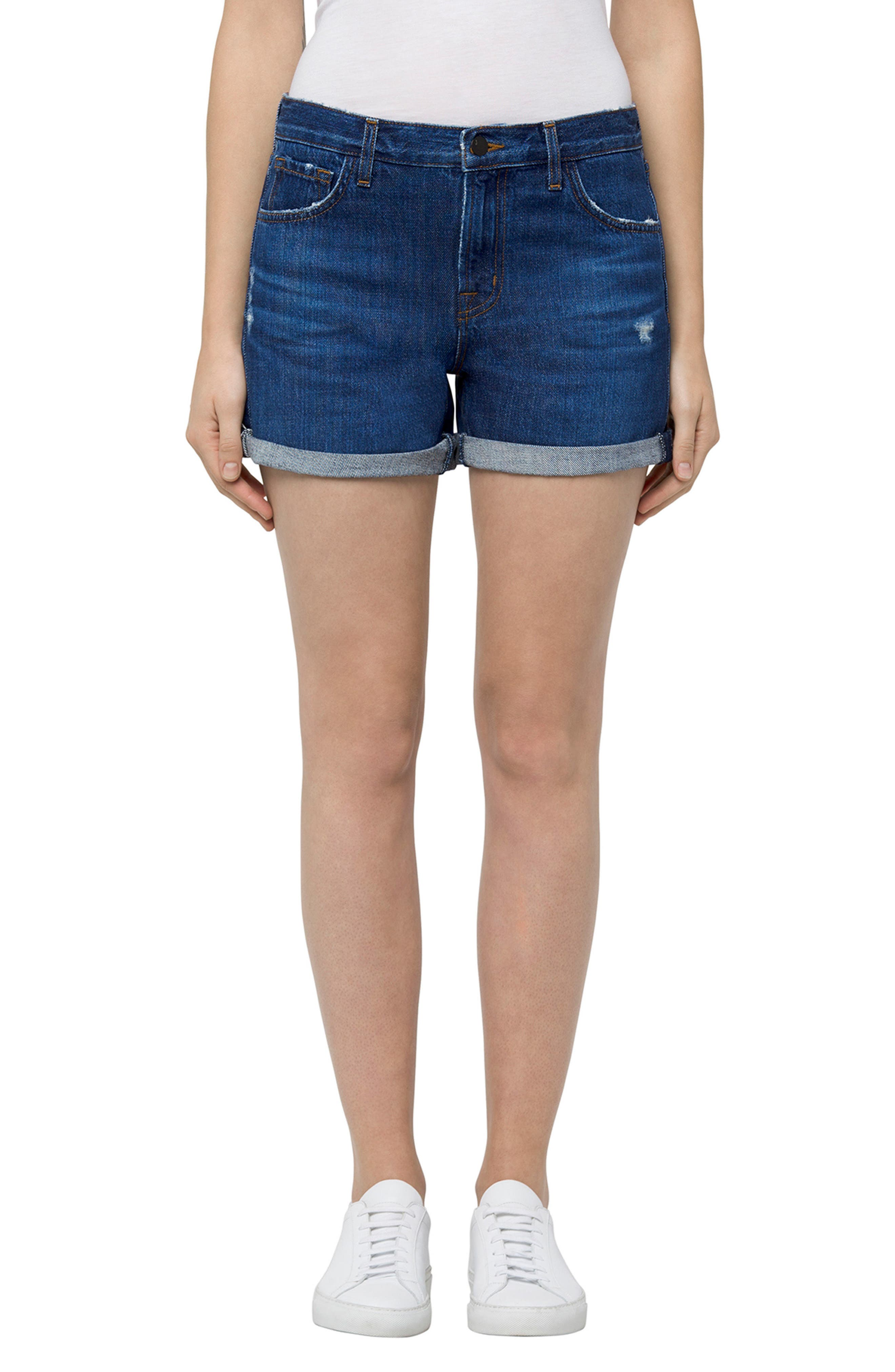 Johnny Denim Shorts,                         Main,                         color, Doubletake