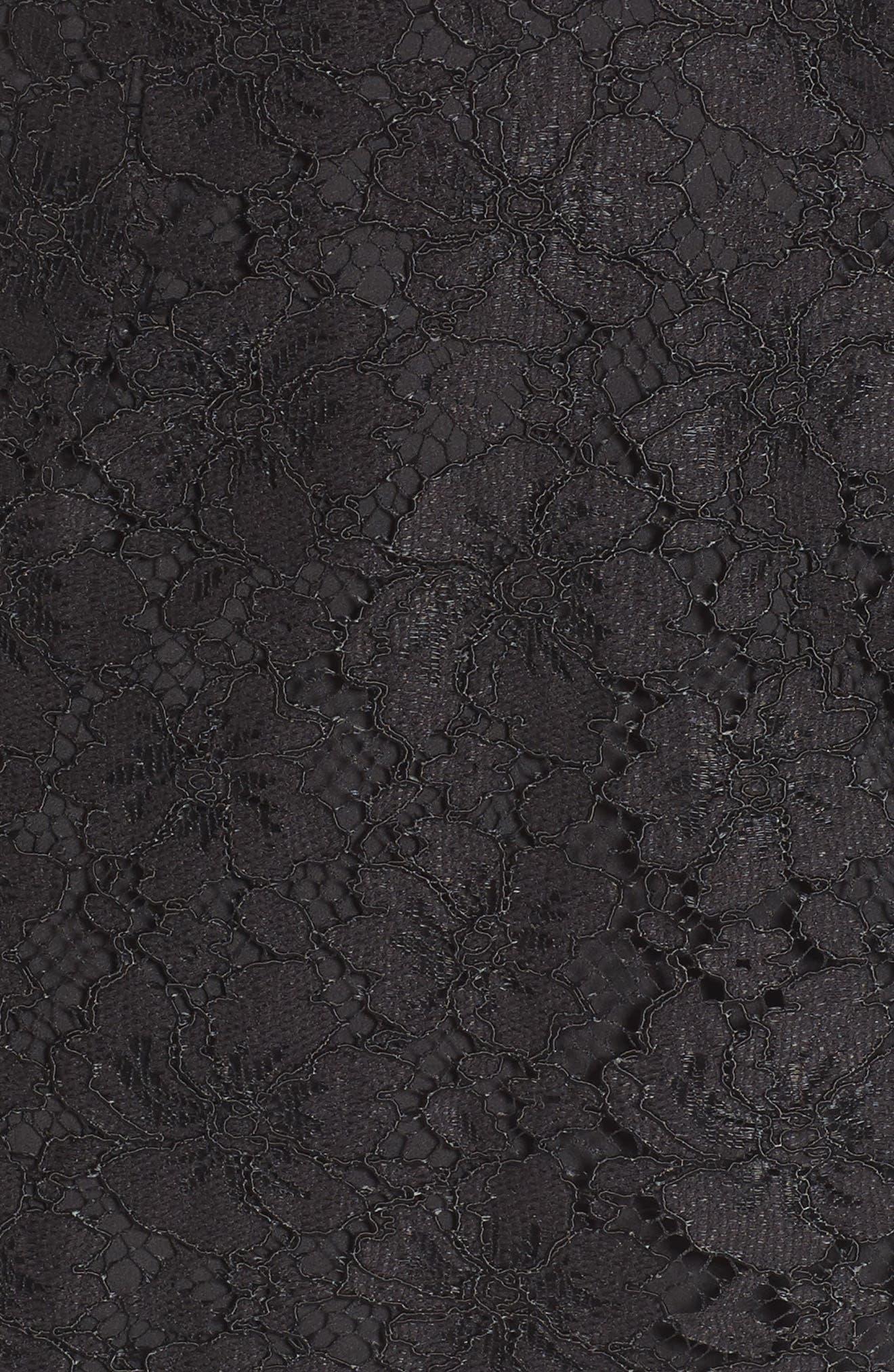 Say It Out Loud Lace Dress,                             Alternate thumbnail 5, color,                             Black