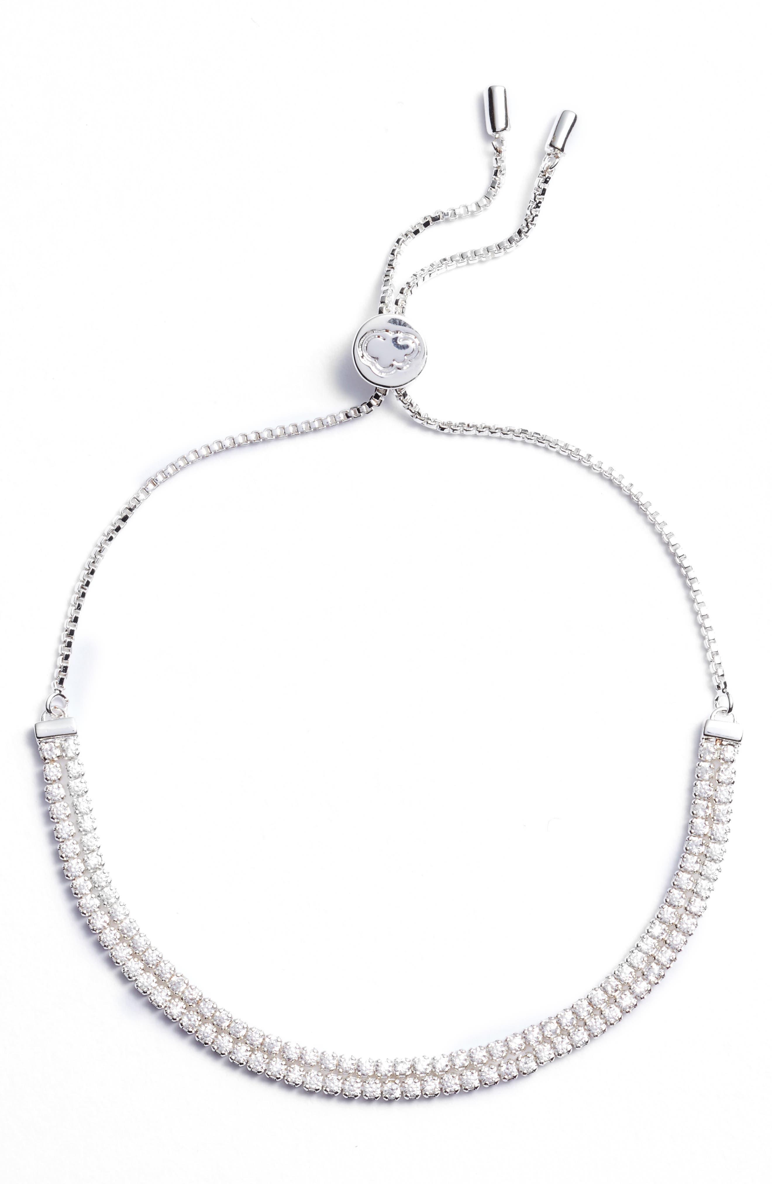 Double Strand Bracelet,                             Main thumbnail 1, color,                             Silver