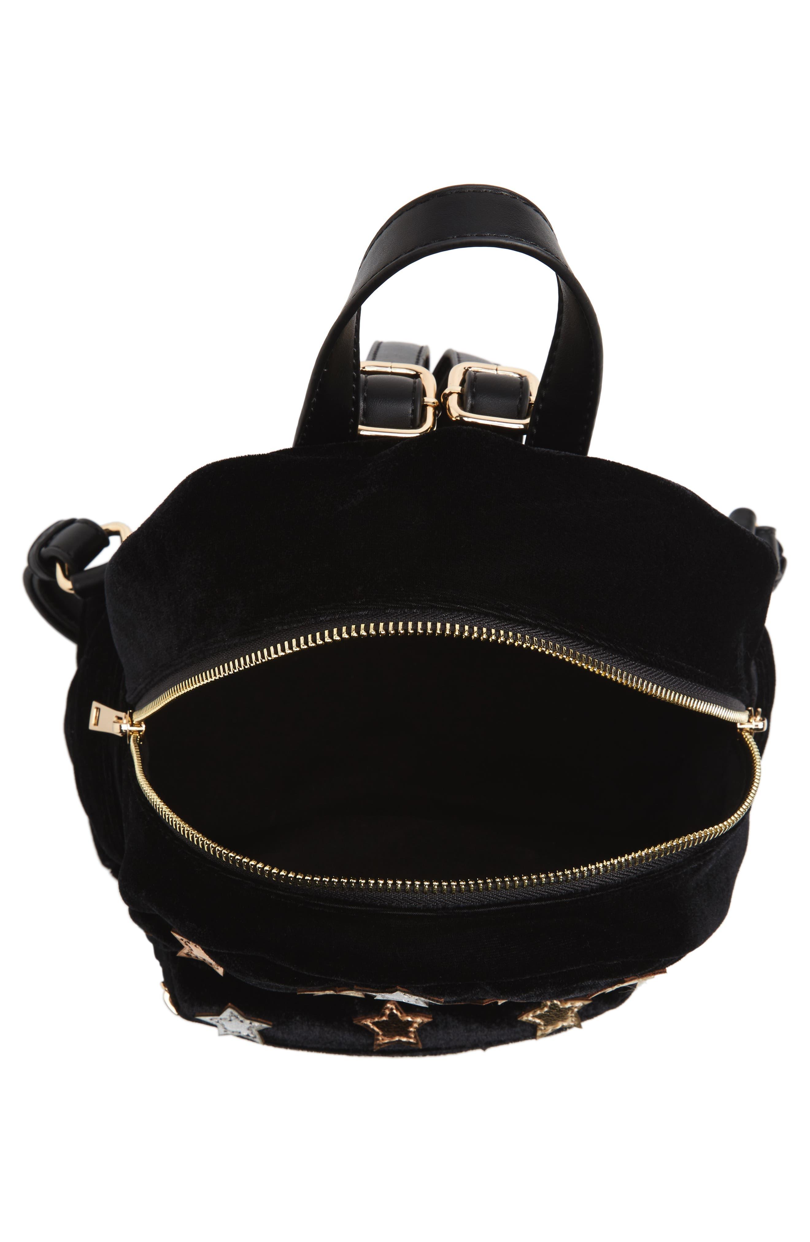Star Mini Backpack,                             Alternate thumbnail 4, color,                             Black