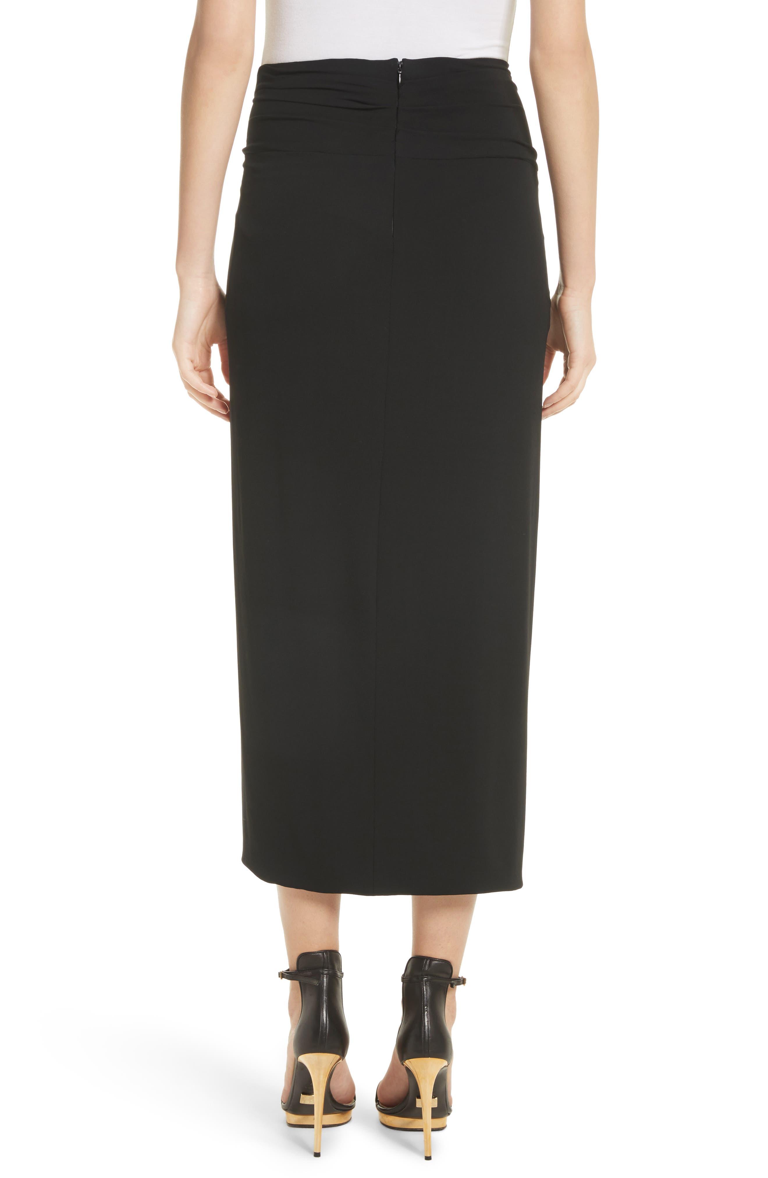 Sarong Midi Skirt,                             Alternate thumbnail 2, color,                             Black