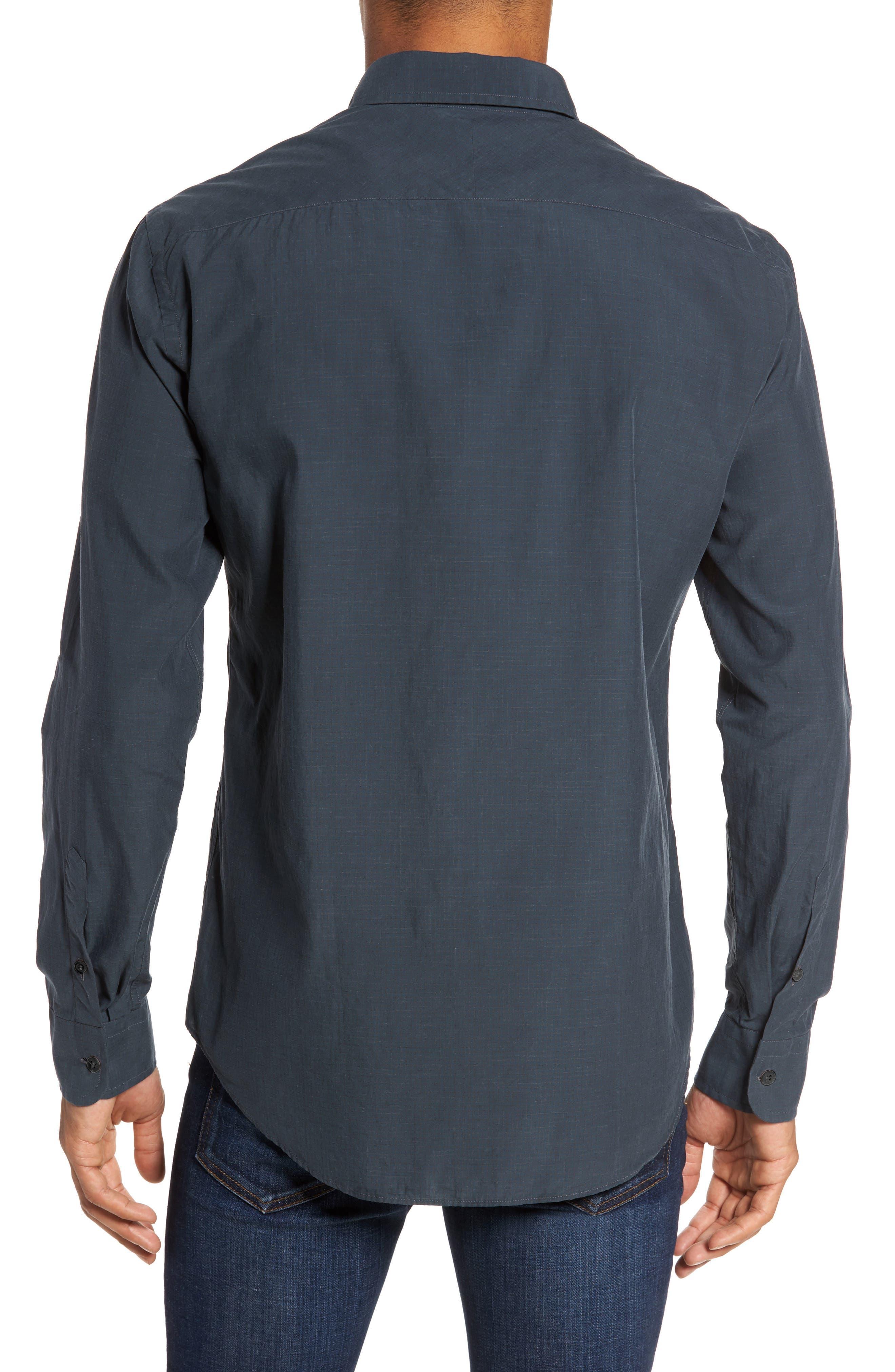 Rosedale Slim Fit Check Sport Shirt,                             Alternate thumbnail 2, color,                             Dark Green