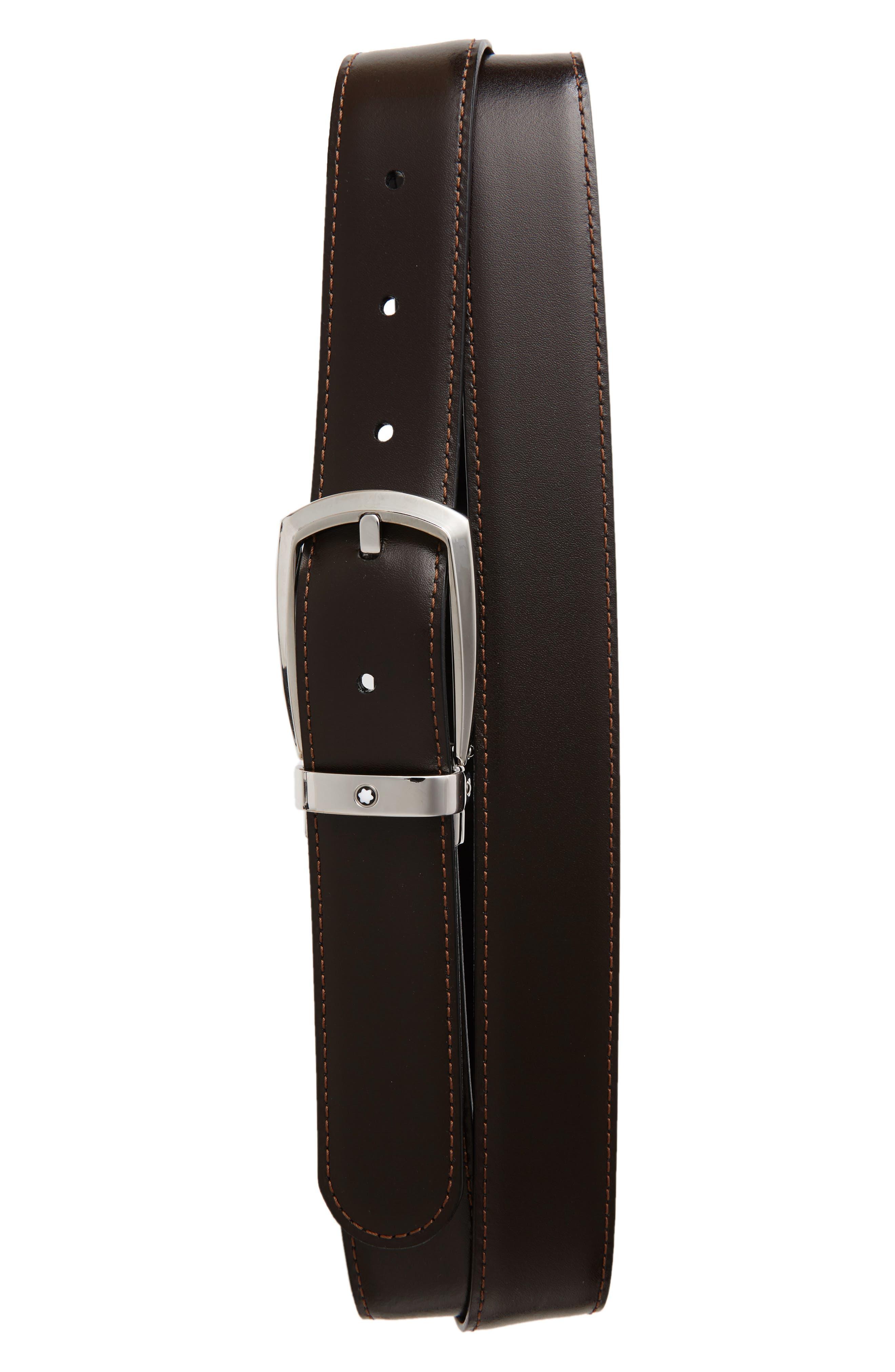 Alternate Image 2  - MONTBLANC Reversible Leather Belt