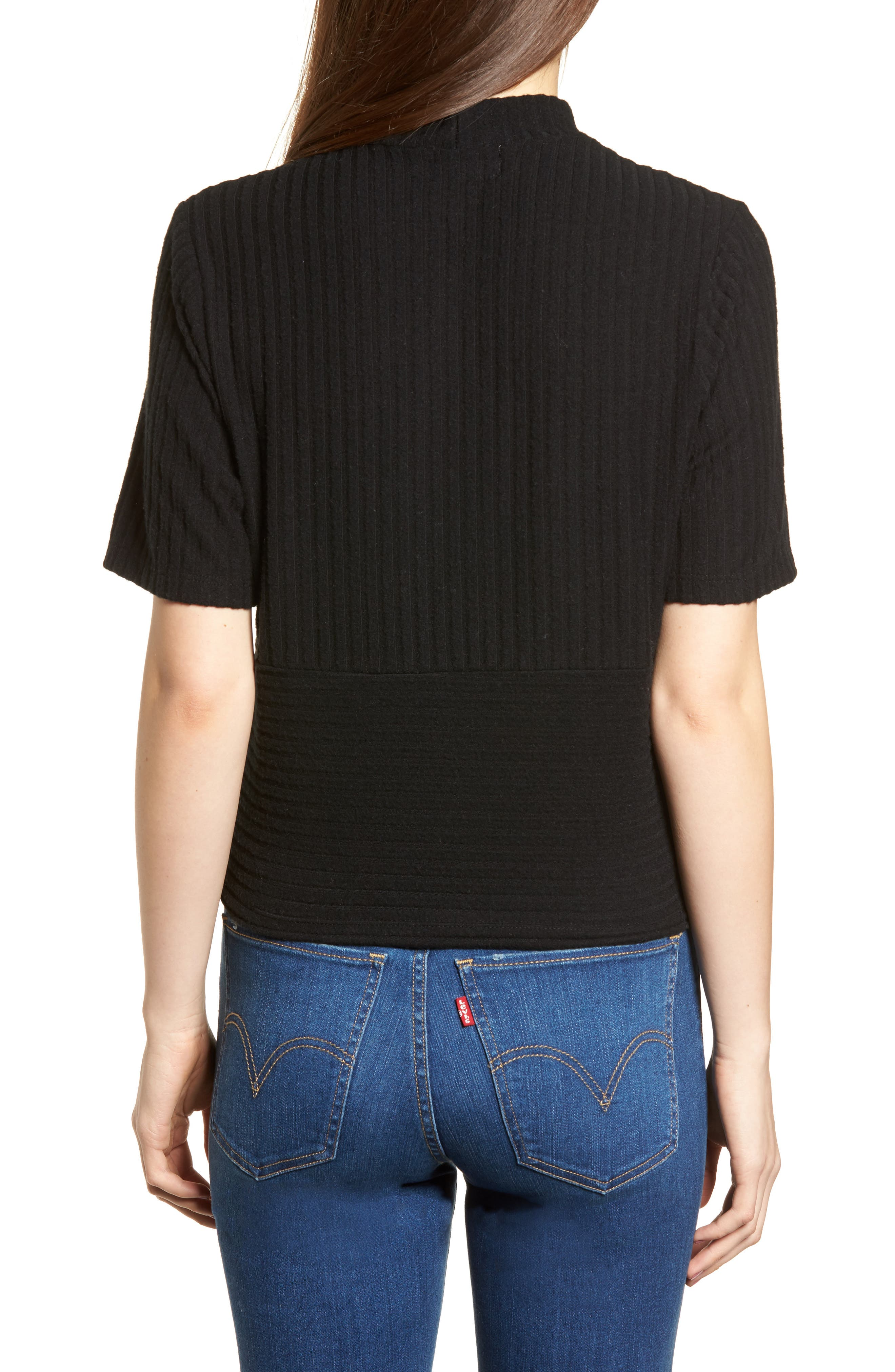 Alternate Image 2  - PST by Project Social T Mock Neck Ribbed Top