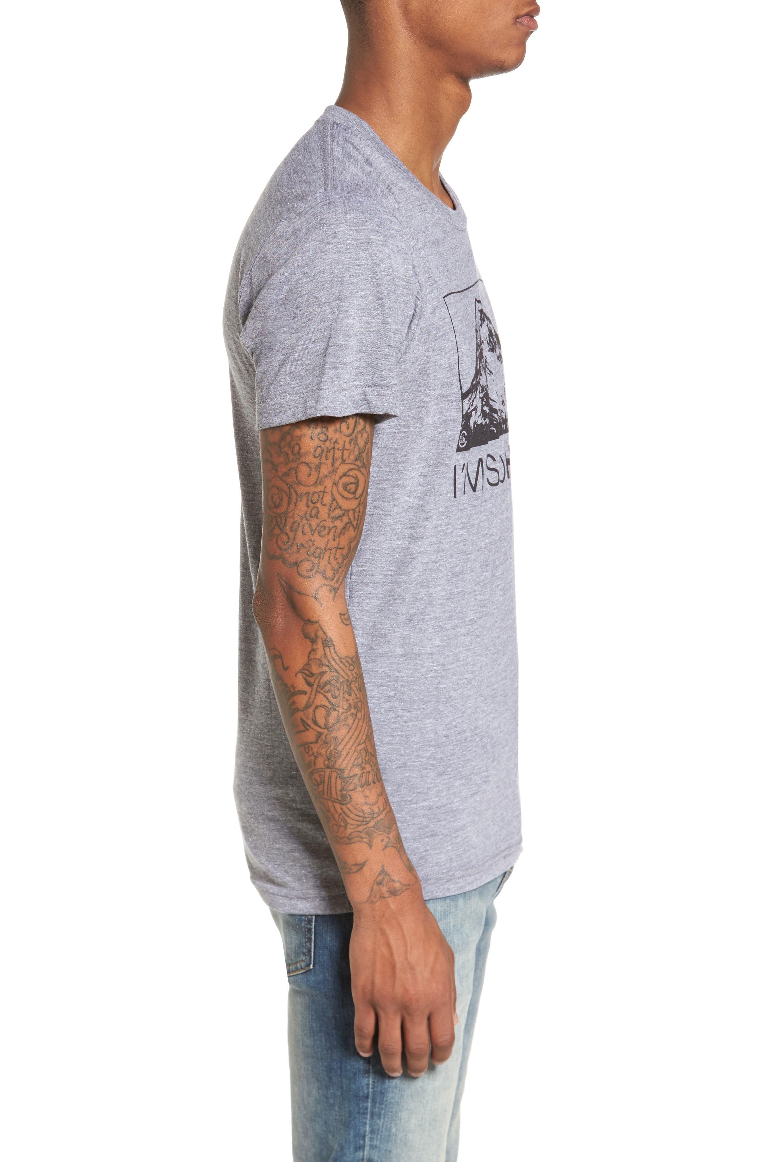 I'm So Hood T-Shirt,                             Alternate thumbnail 3, color,                             Tri Athletic Grey